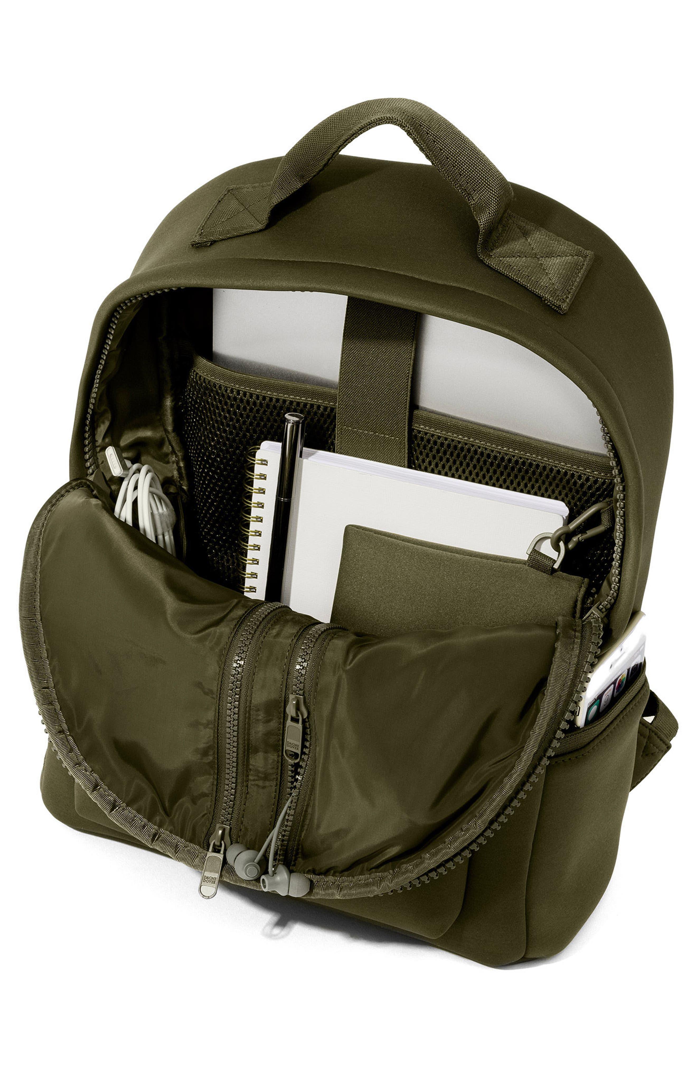 365 Dakota Neoprene Backpack,                             Alternate thumbnail 2, color,                             Dark Moss