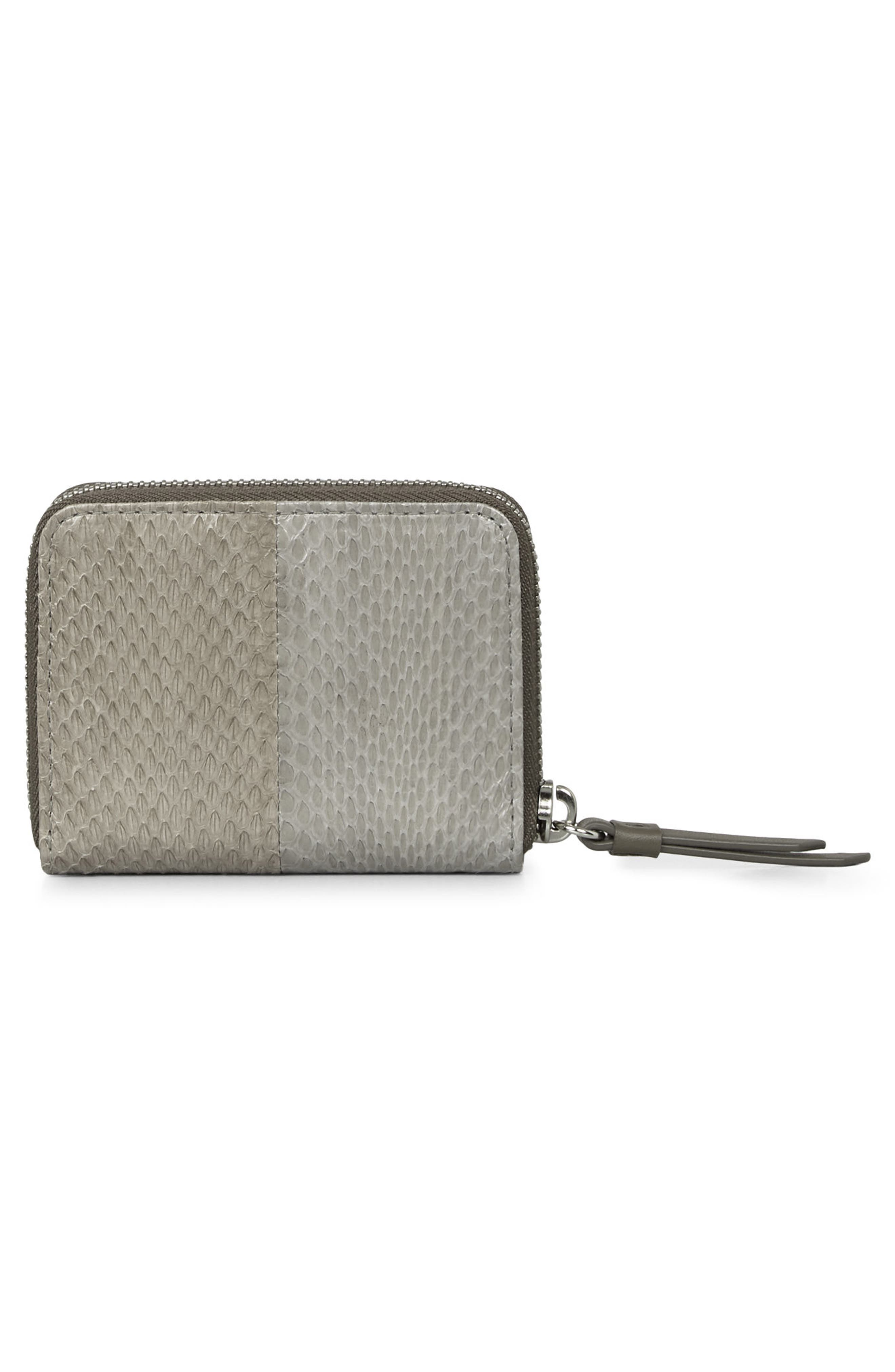 Alternate Image 2  - ALLSAINTS Ikuya Leather & Genuine Snakeskin Wallet