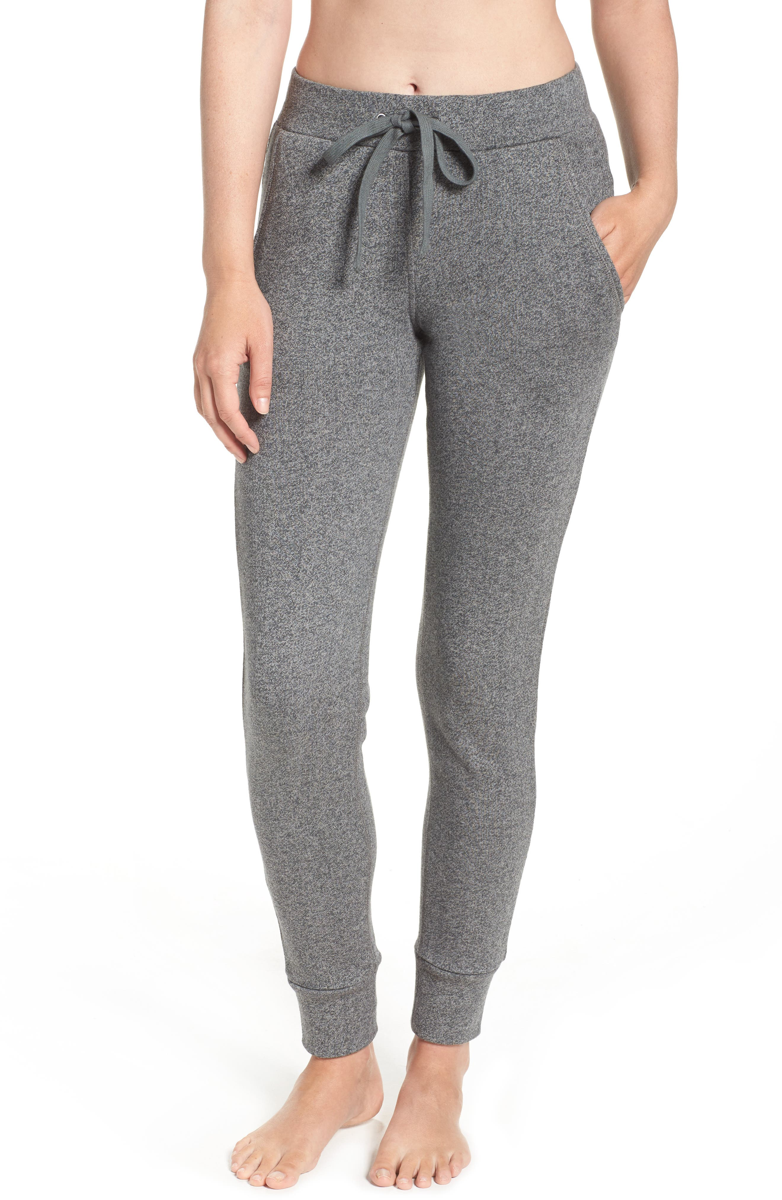 Clementine Terrry Sweatpants,                         Main,                         color, Charcoal Heather