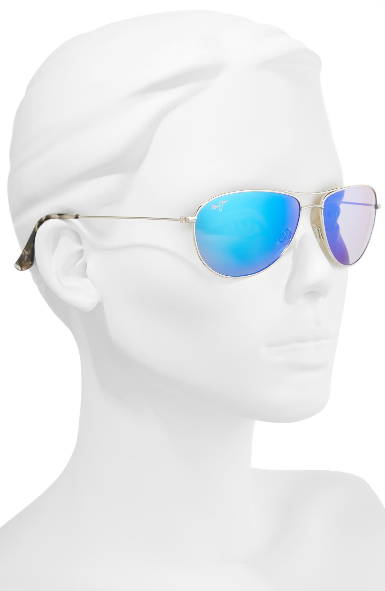 Alternate Image 2  - Maui Jim Sea House 60mm Polarized Titanium Aviator Sunglasses