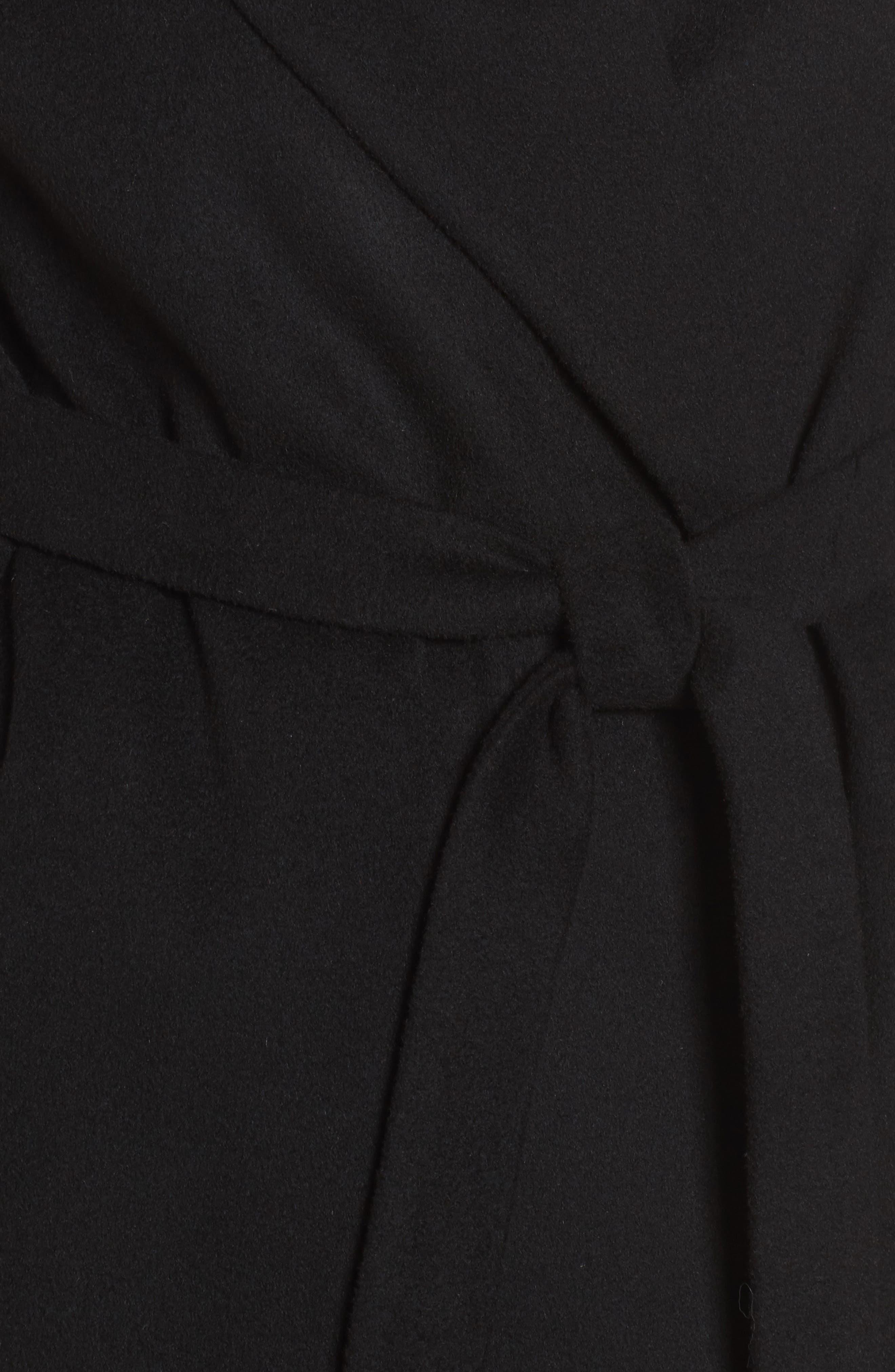 Belted Duster Coat,                             Alternate thumbnail 5, color,                             Black
