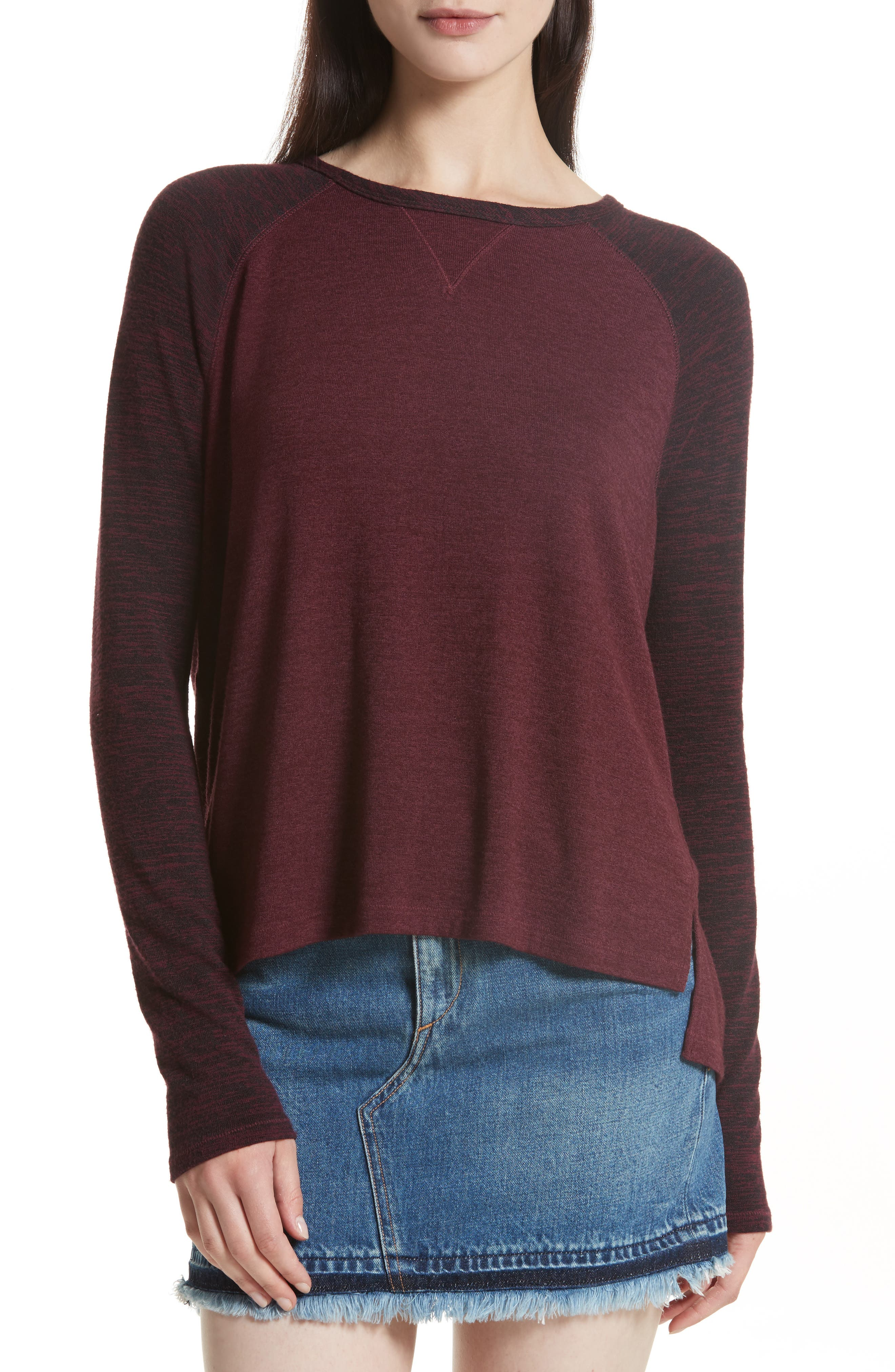 Alternate Image 1 Selected - rag & bone/JEAN Camden Raglan Sleeve Tee
