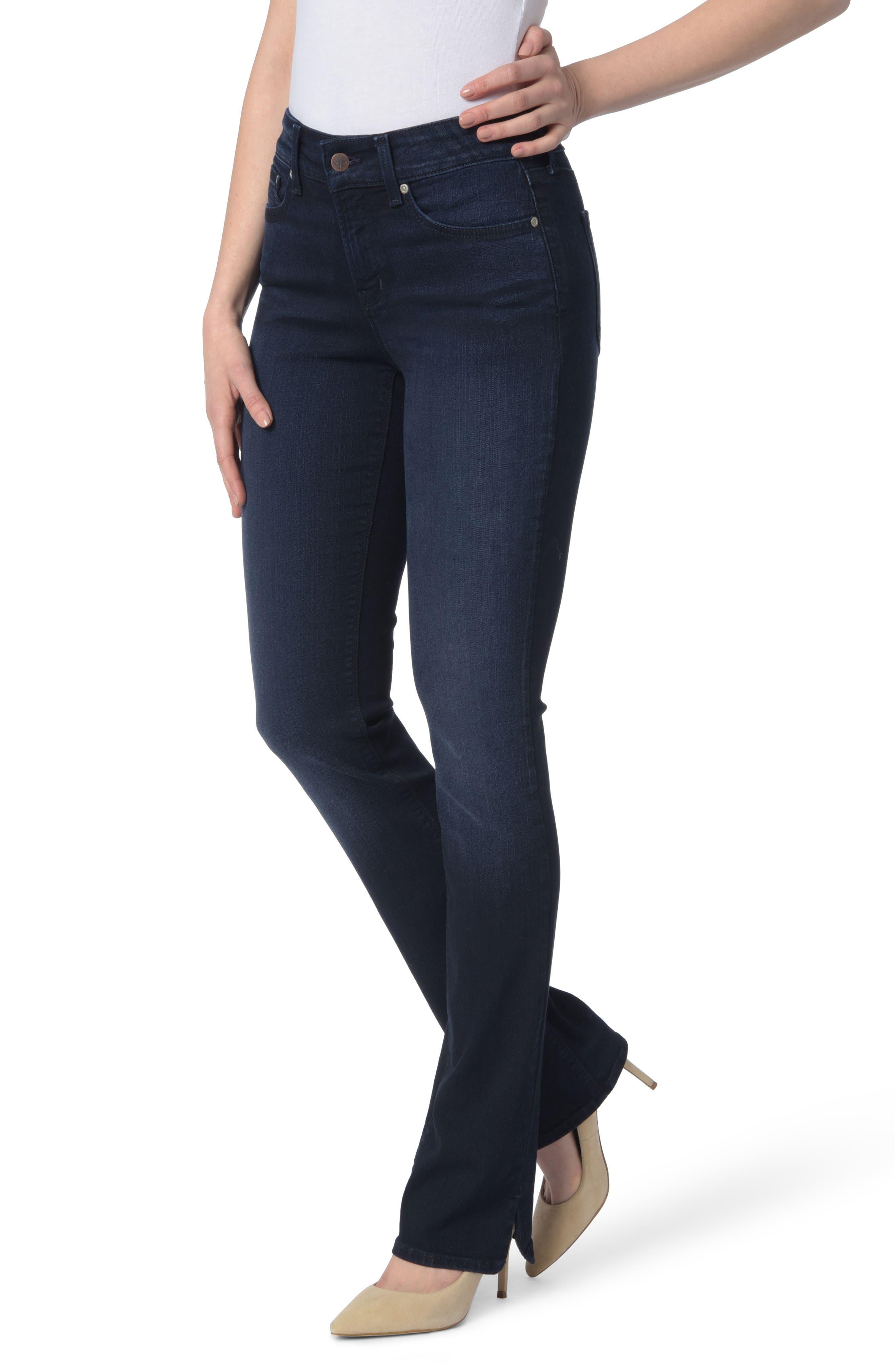NYDJ Billie Slit Stretch Mini Bootcut Jeans (Sinclair)
