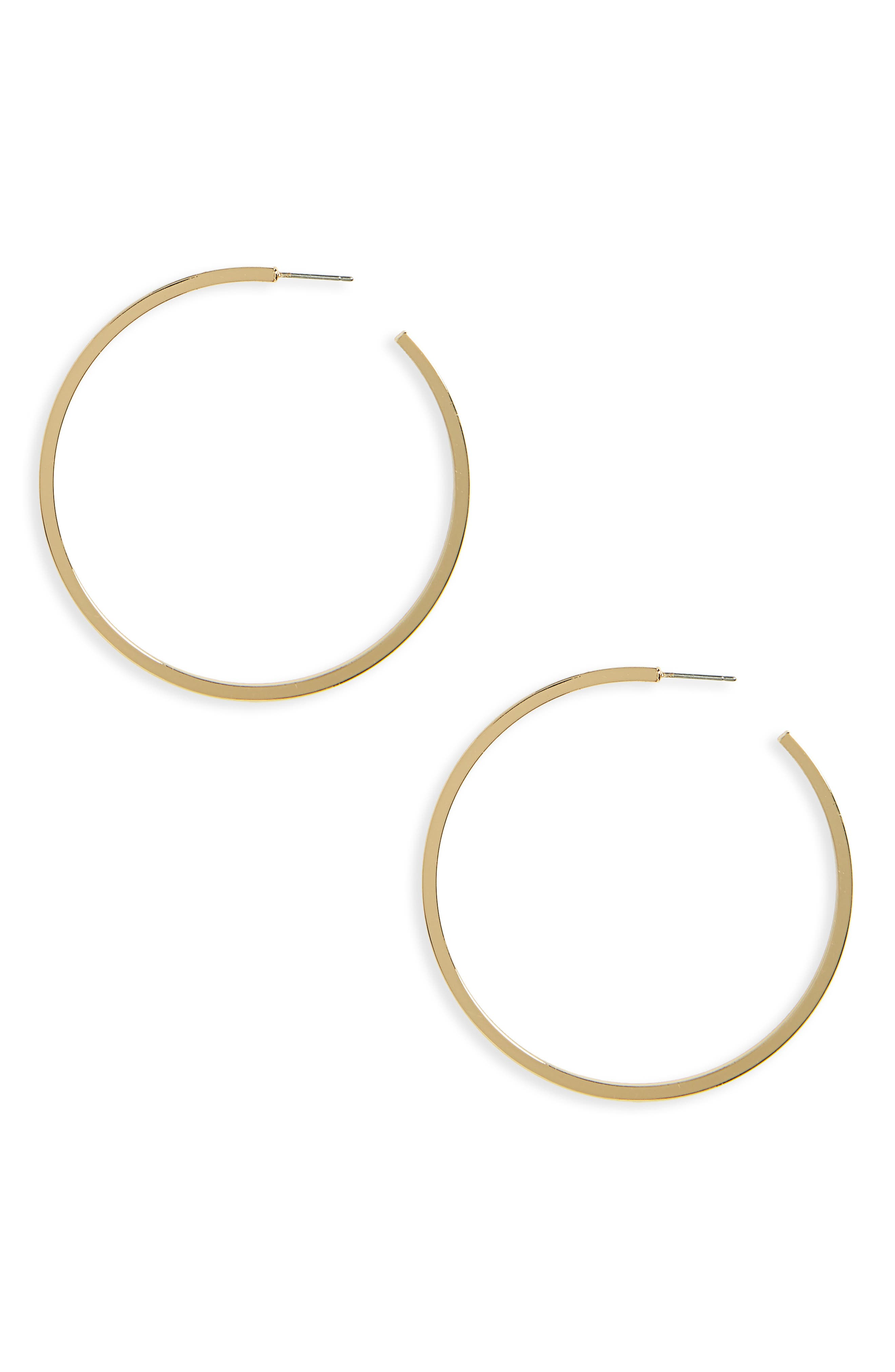 Halogen Large J-Hoop Earrings,                             Main thumbnail 1, color,                             Gold