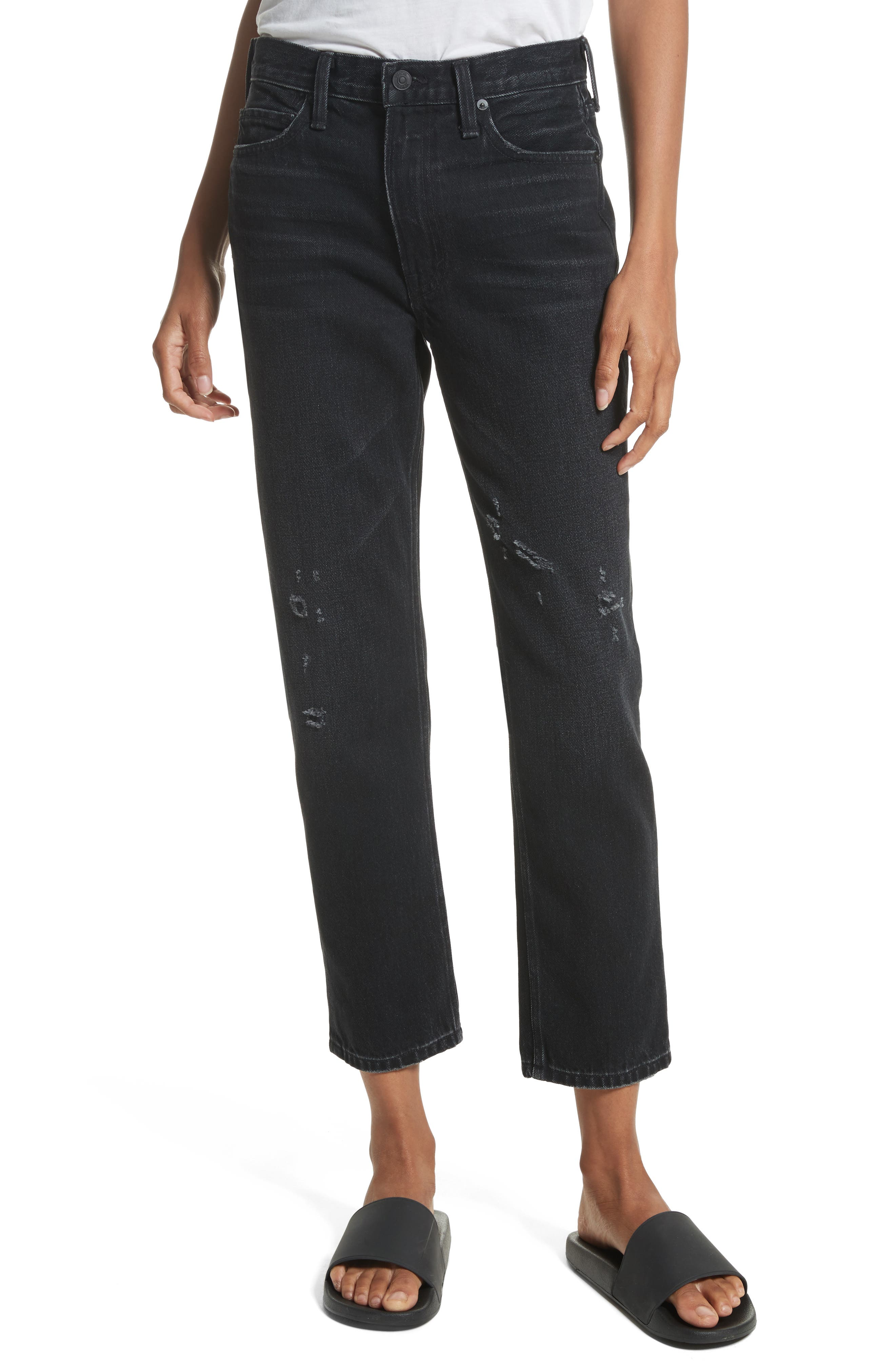 VINCE High Waist Vintage Straight Jeans
