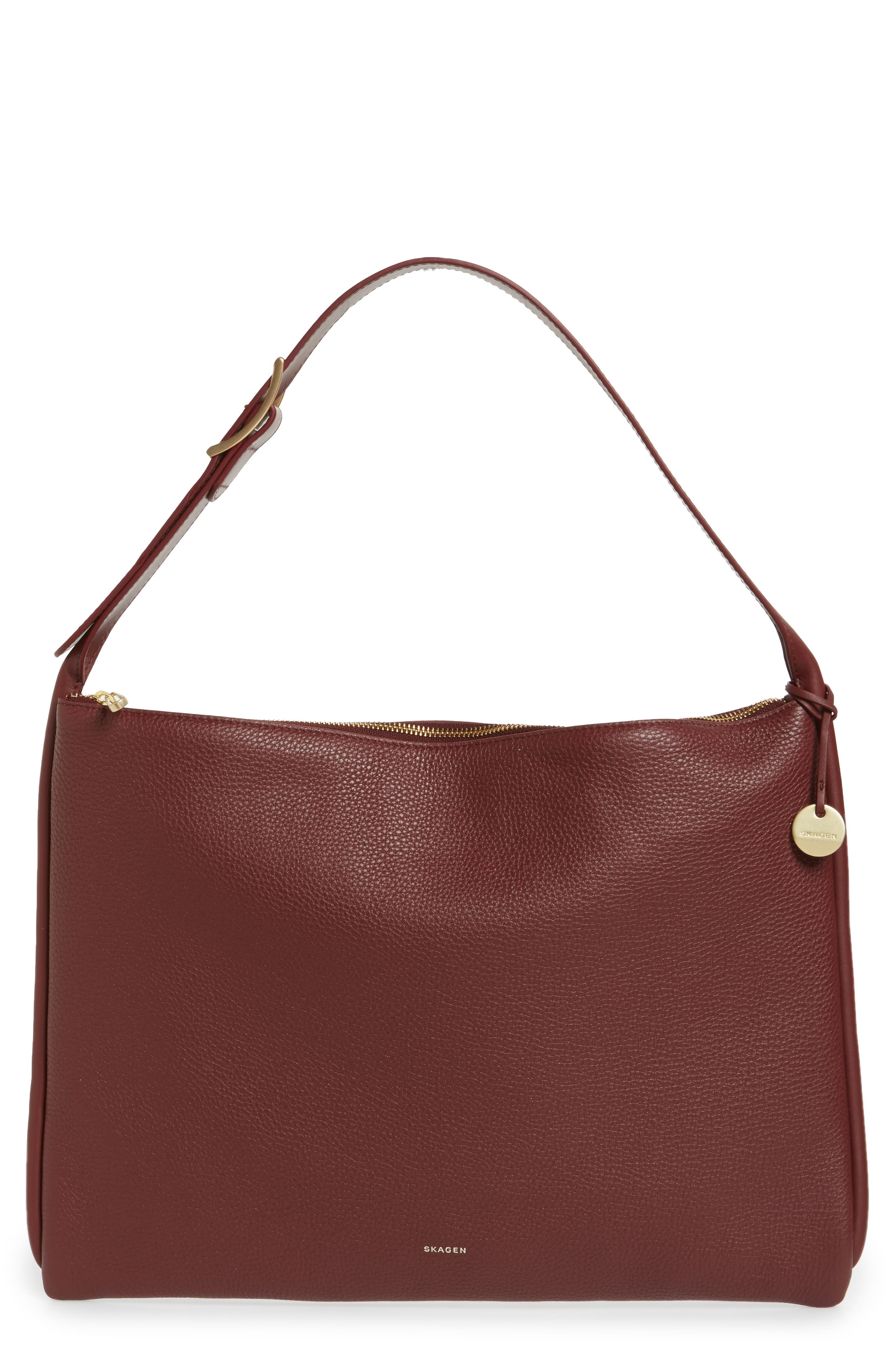 Skagen Anesa Leather Shoulder Bag