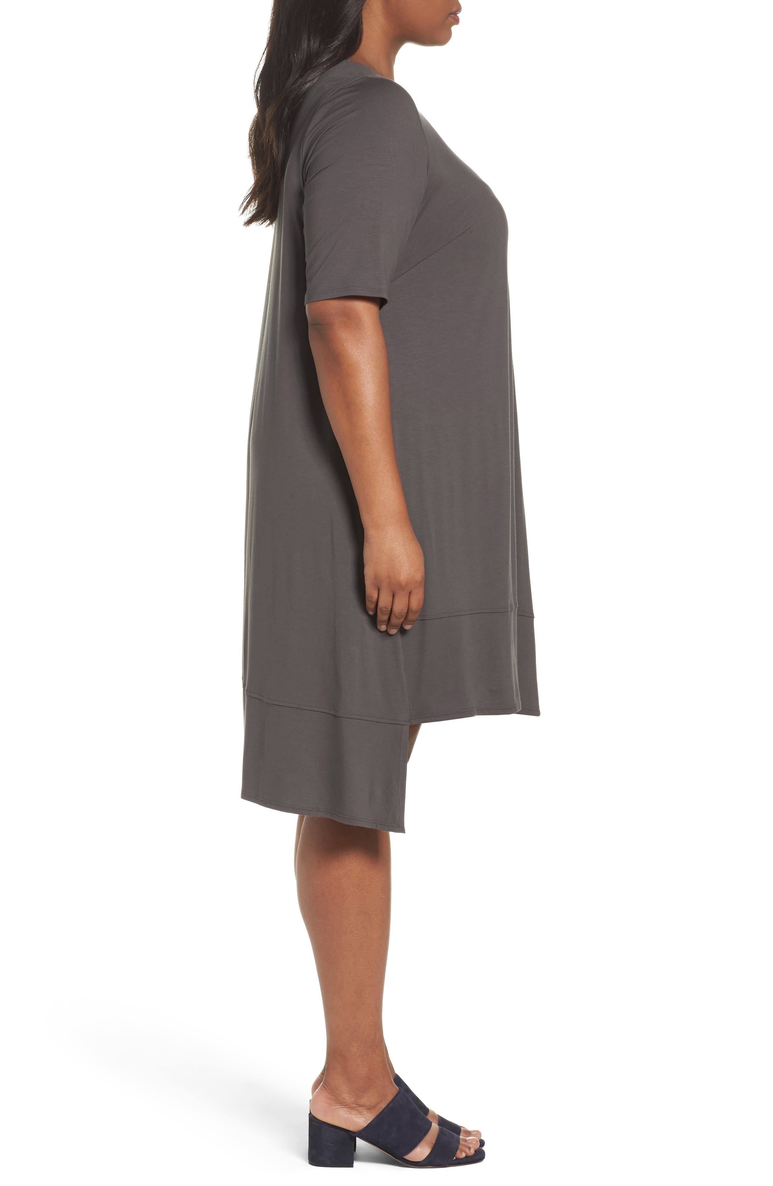 Alternate Image 3  - Eileen Fisher Jersey Shift Dress (Plus Size)