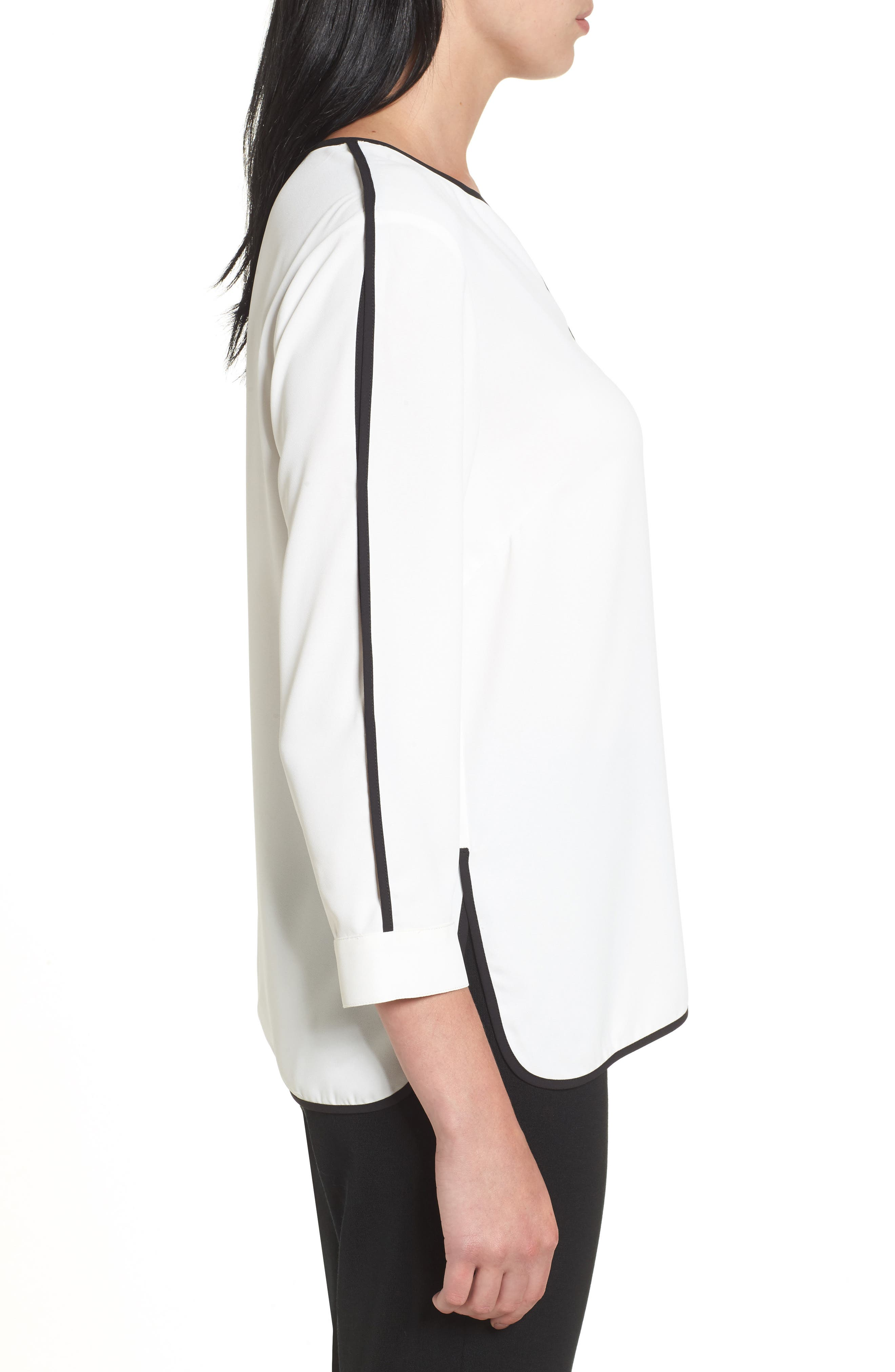 Alternate Image 3  - Ming Wang Split Sleeve Blouse