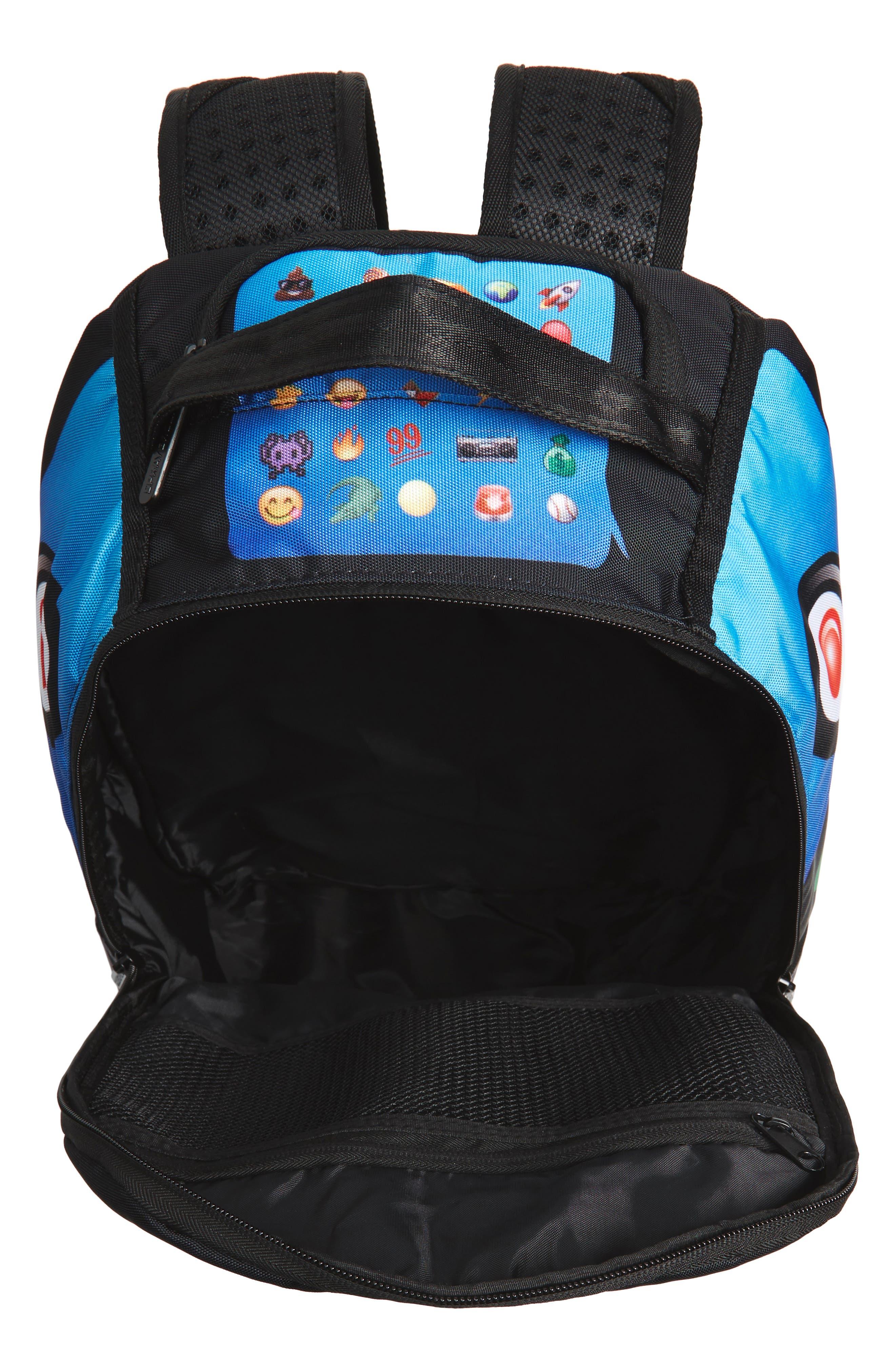 Alternate Image 3  - Sprayground Emoji Shark Backpack (Kids)