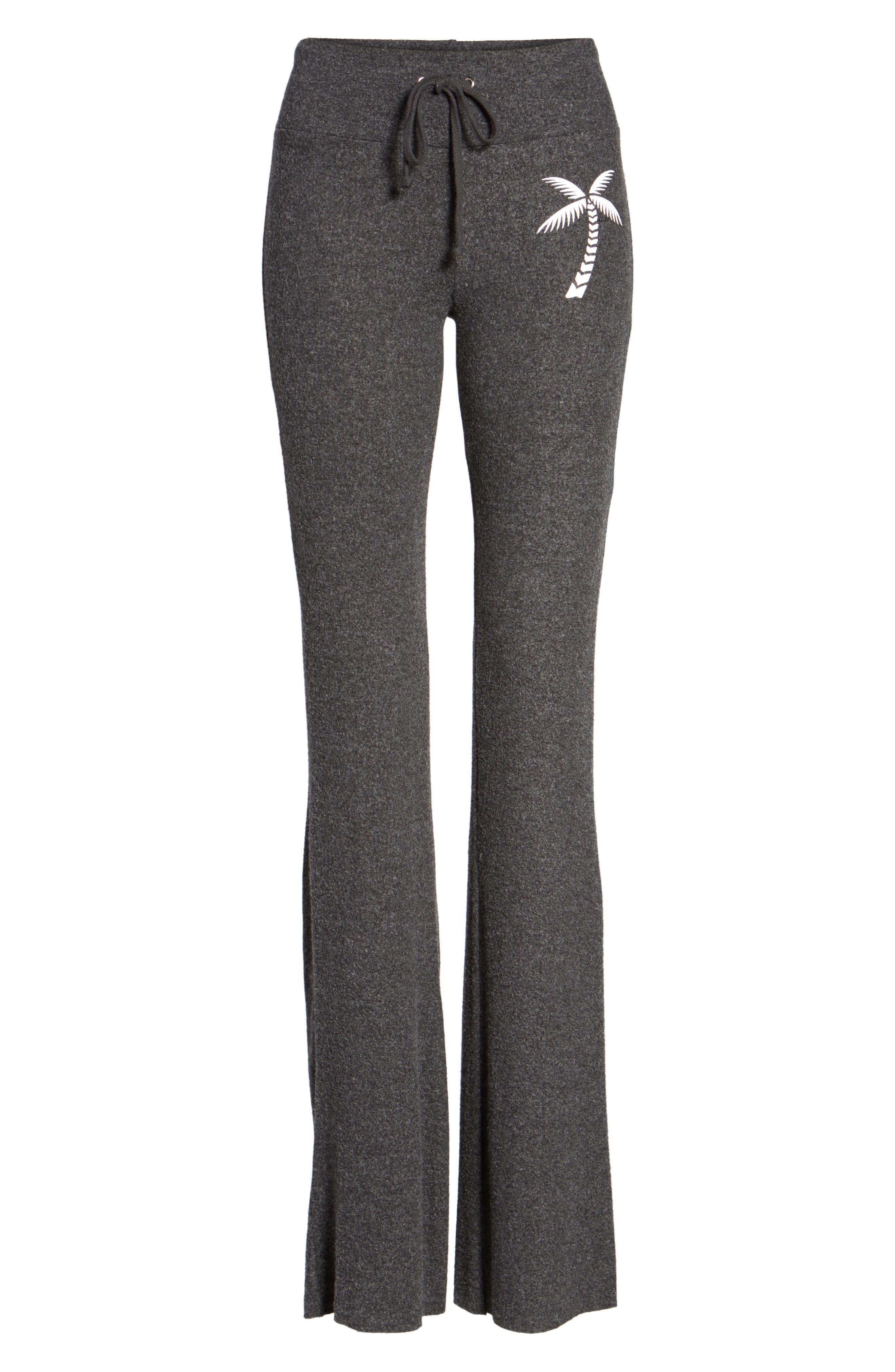 Salty Hair Track Pants,                             Alternate thumbnail 6, color,                             Black