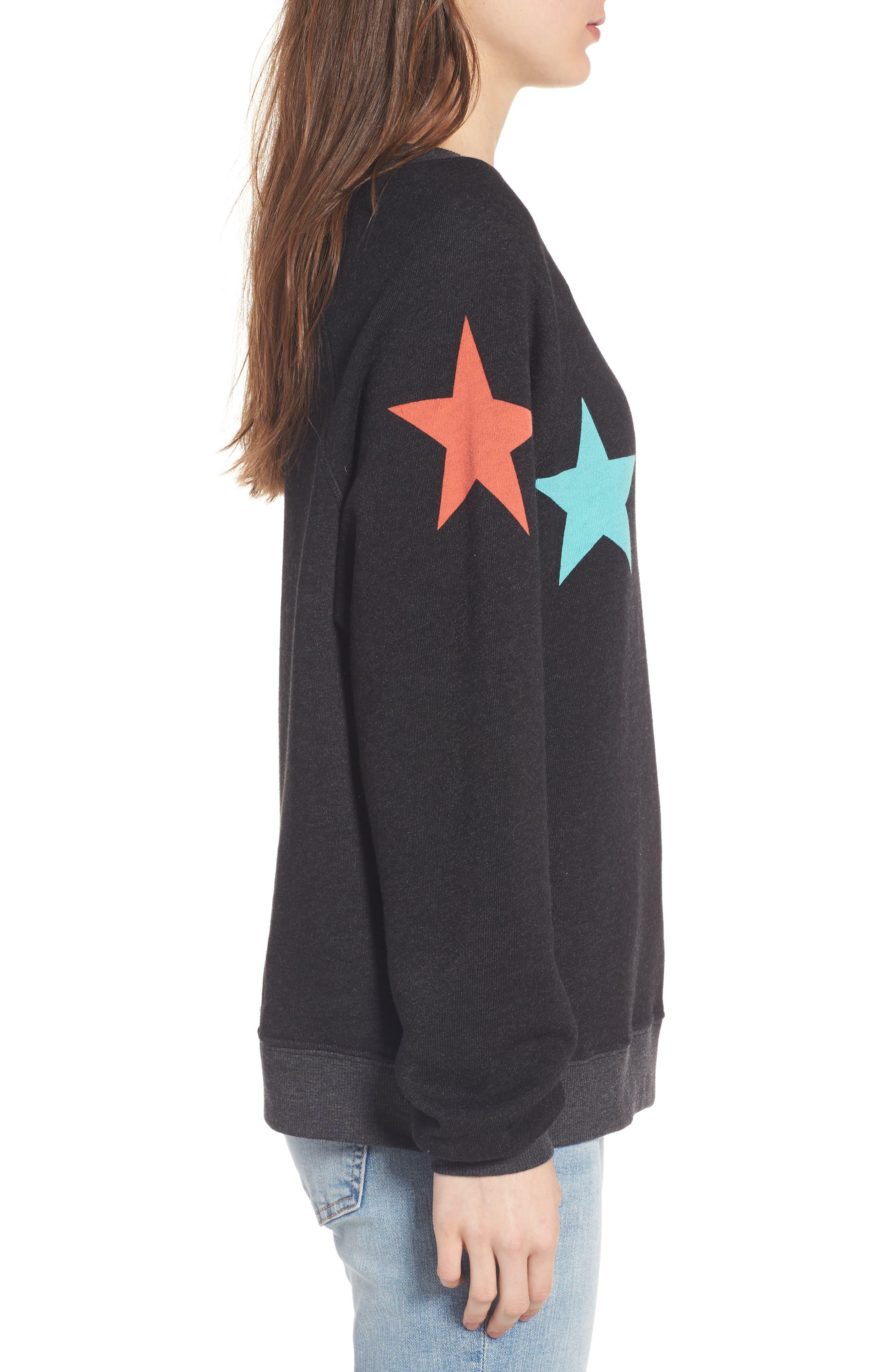 Arcade Stars Sommers Sweatshirt,                             Alternate thumbnail 4, color,                             Heathered Black