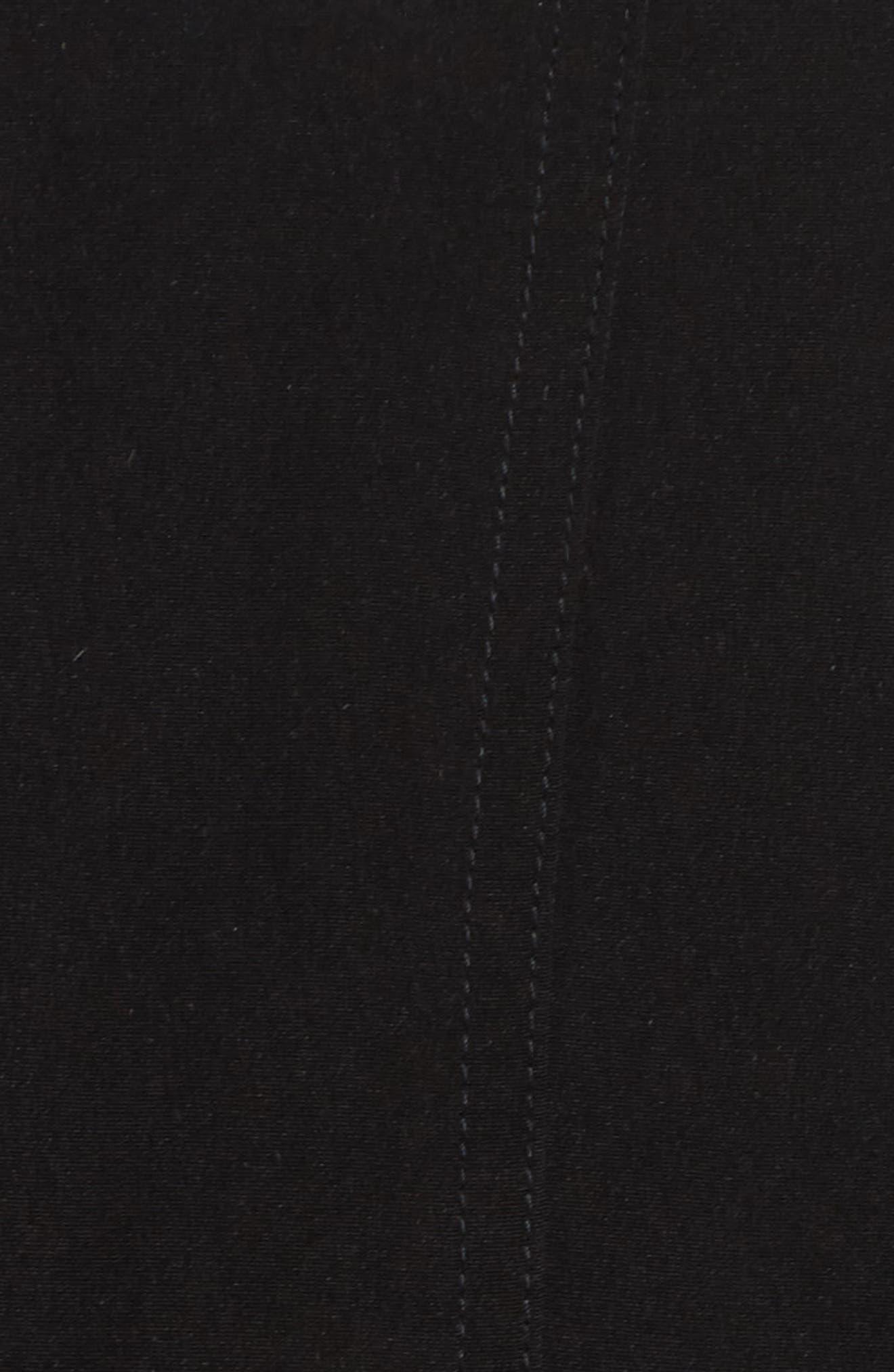 Alternate Image 5  - Gallery Two-Tone Long Silk Look Raincoat (Plus Size)