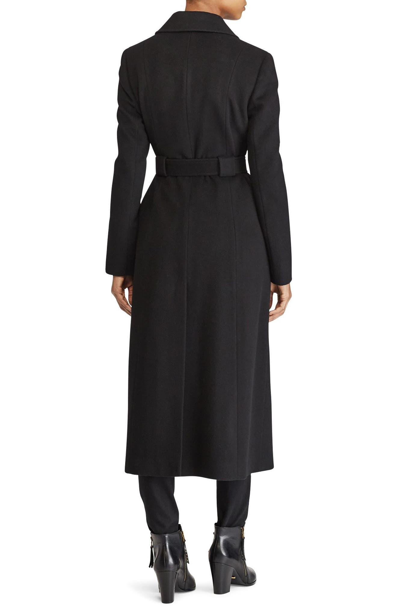 Wrap Overcoat,                             Alternate thumbnail 2, color,                             Black