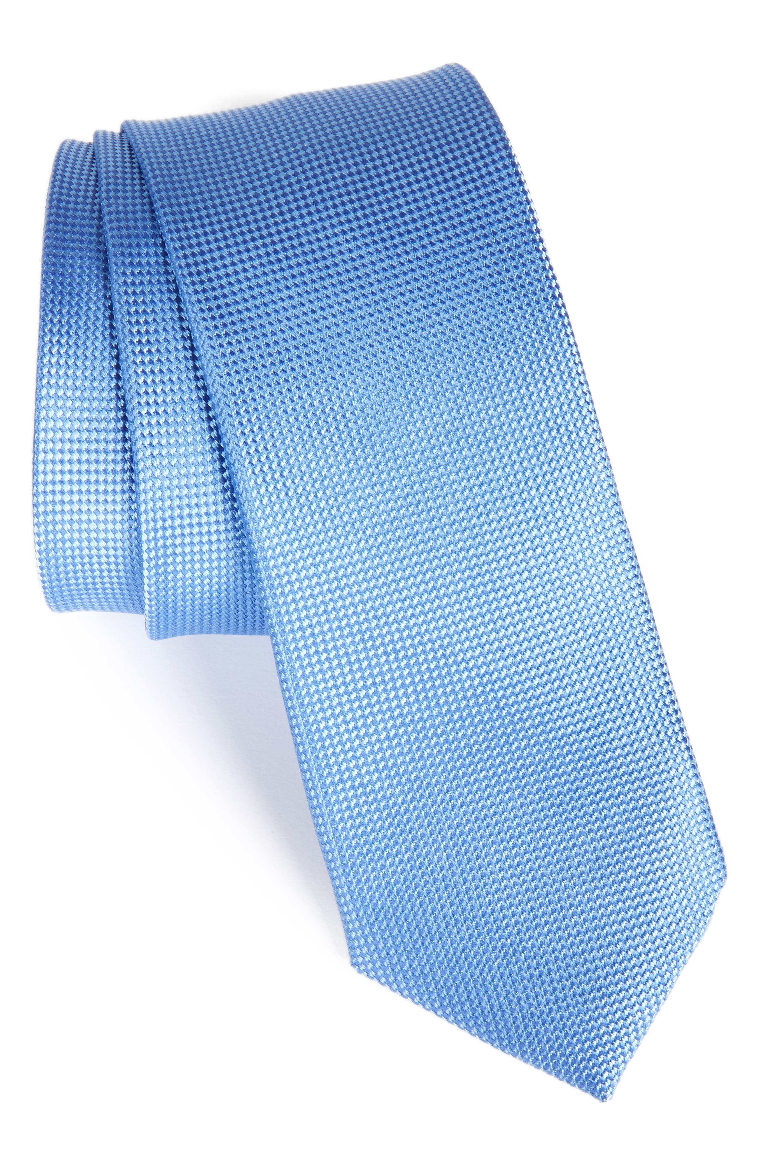 NORDSTROM MENS SHOP Maison Solid Silk Skinny Tie