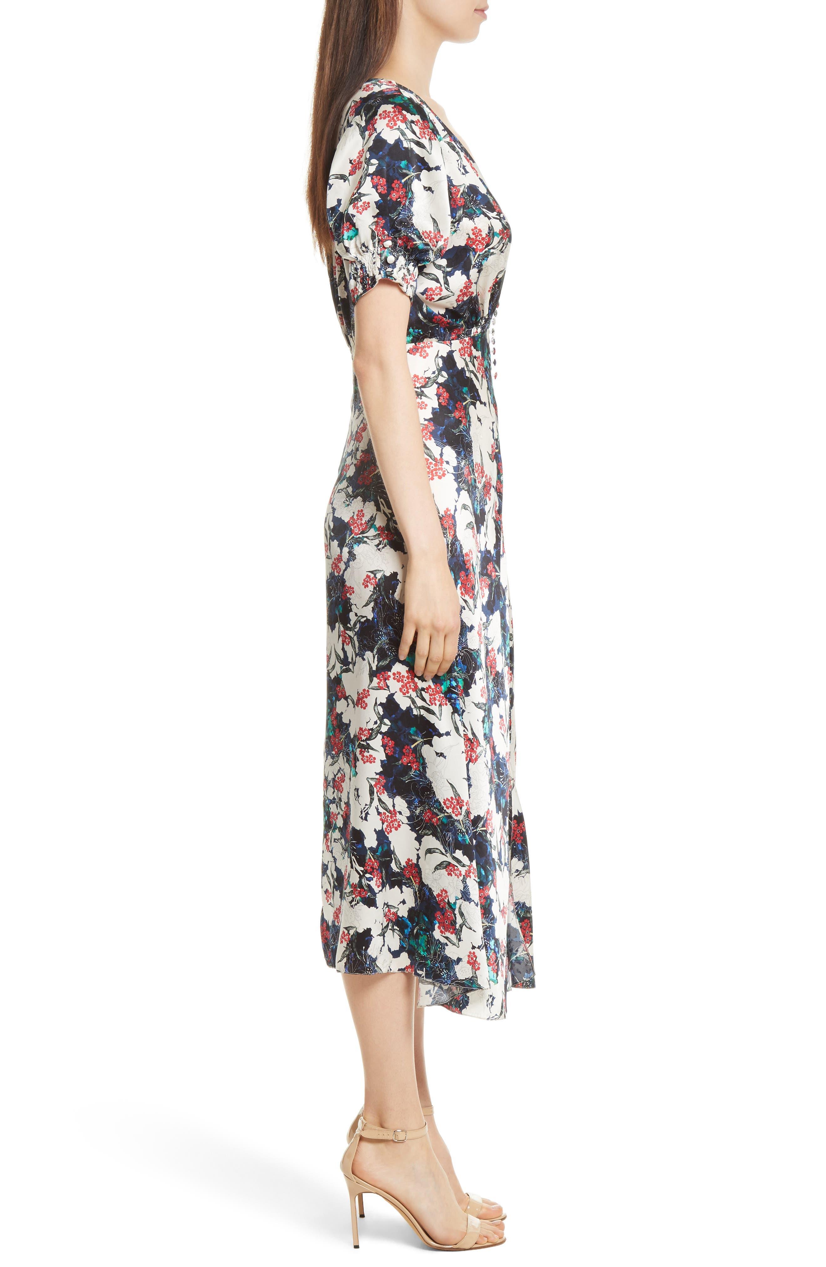 Alternate Image 3  - SALONI Lea Silk Midi Dress