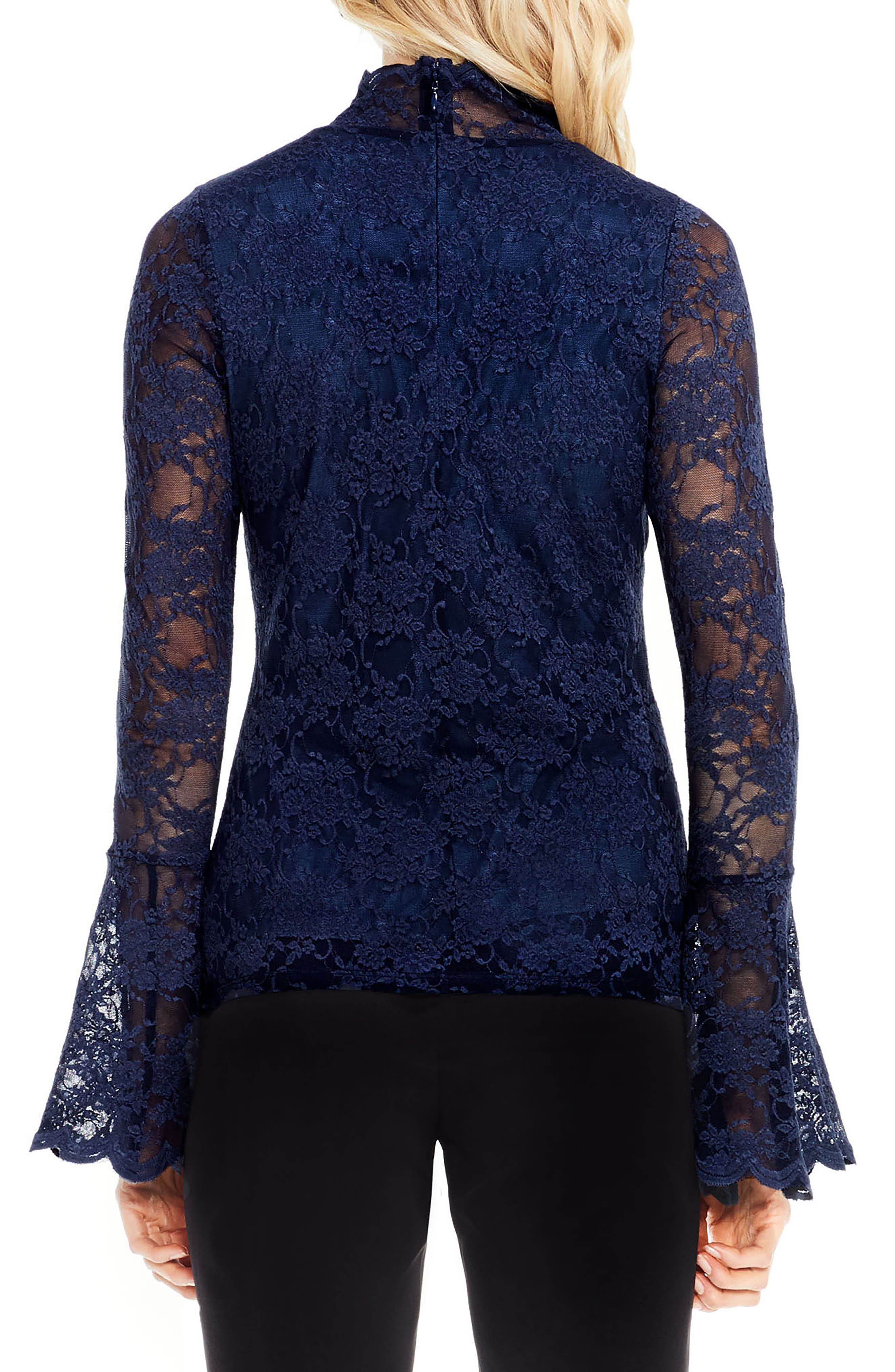 Alternate Image 2  - Vince Camuto Bell Sleeve Lace Top (Regular & Petite)