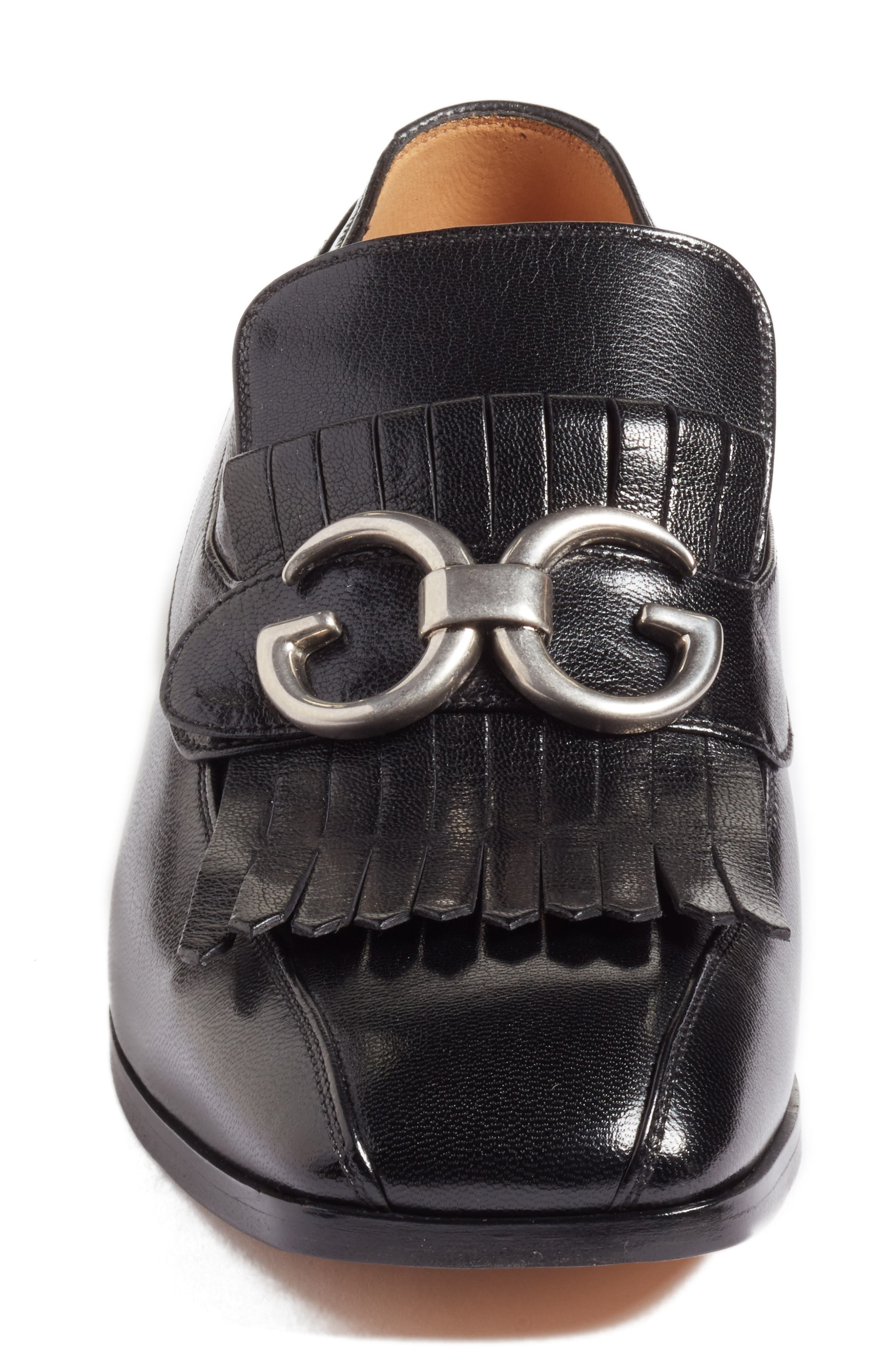 Alternate Image 4  - Gucci Novel Marmont Kiltie Loafer (Men)