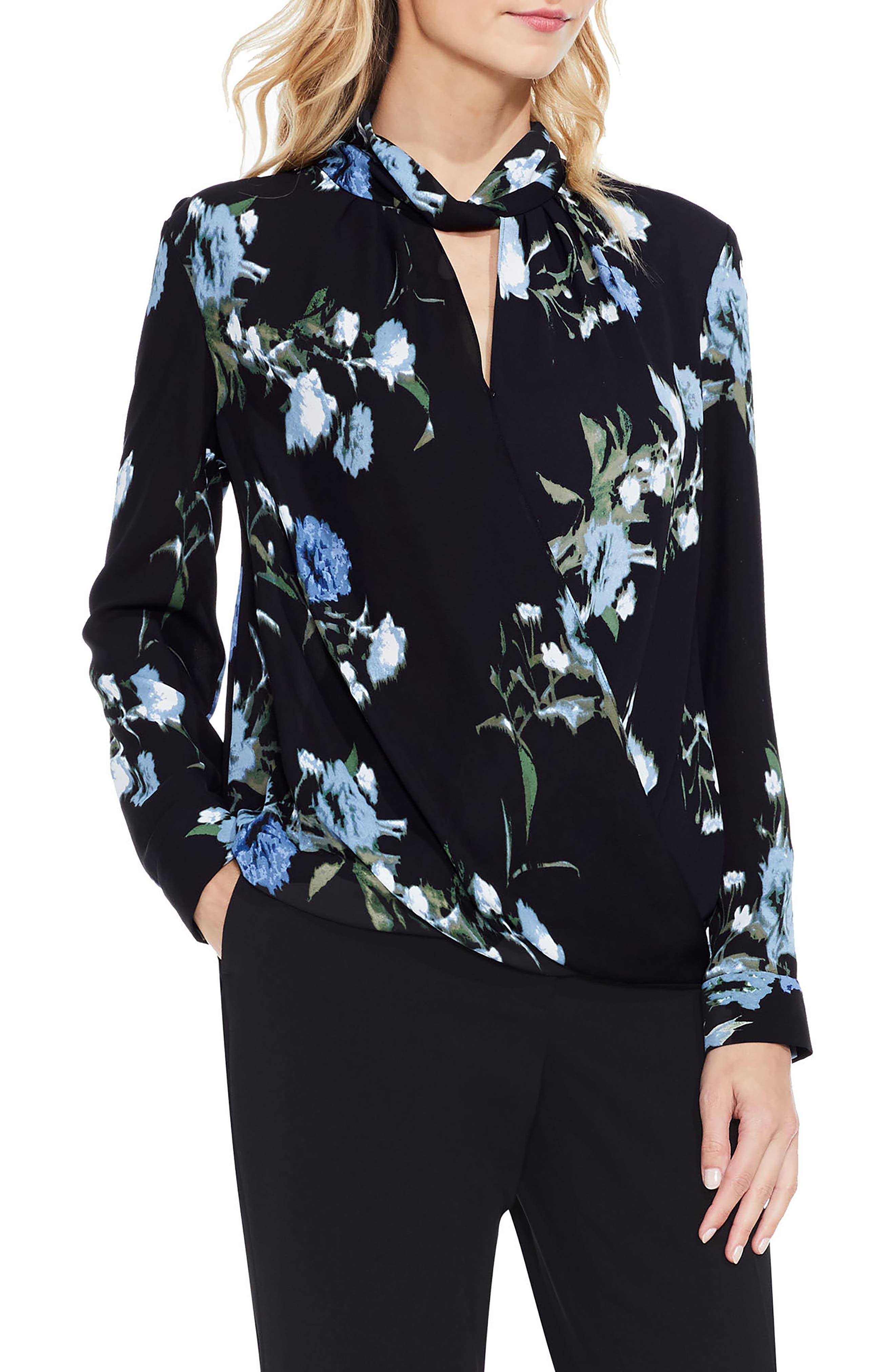 Windswept Bouquet Blouse,                         Main,                         color, Cameo Blue