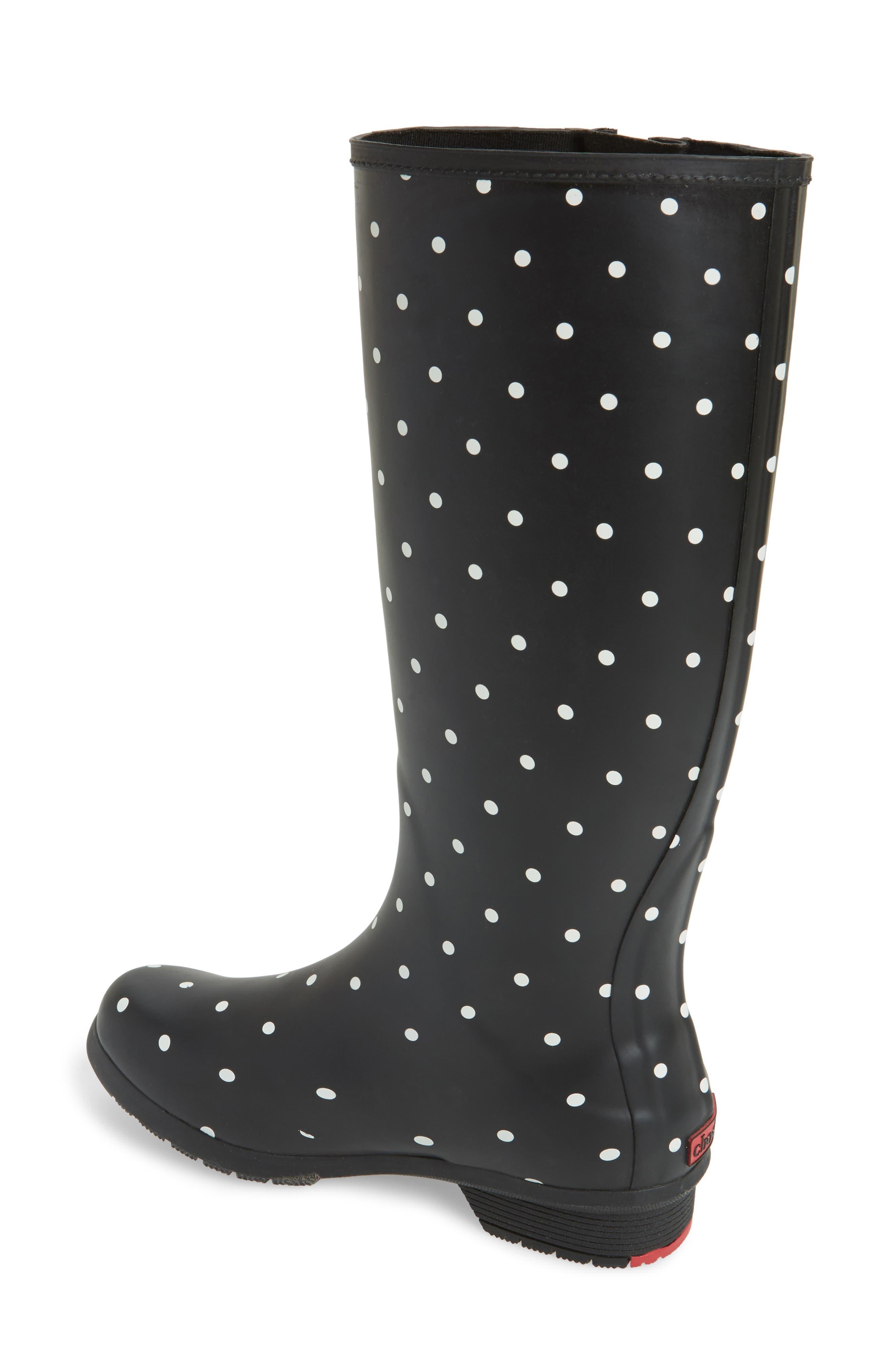 Classic Dot Rain Boot,                             Alternate thumbnail 2, color,                             Black