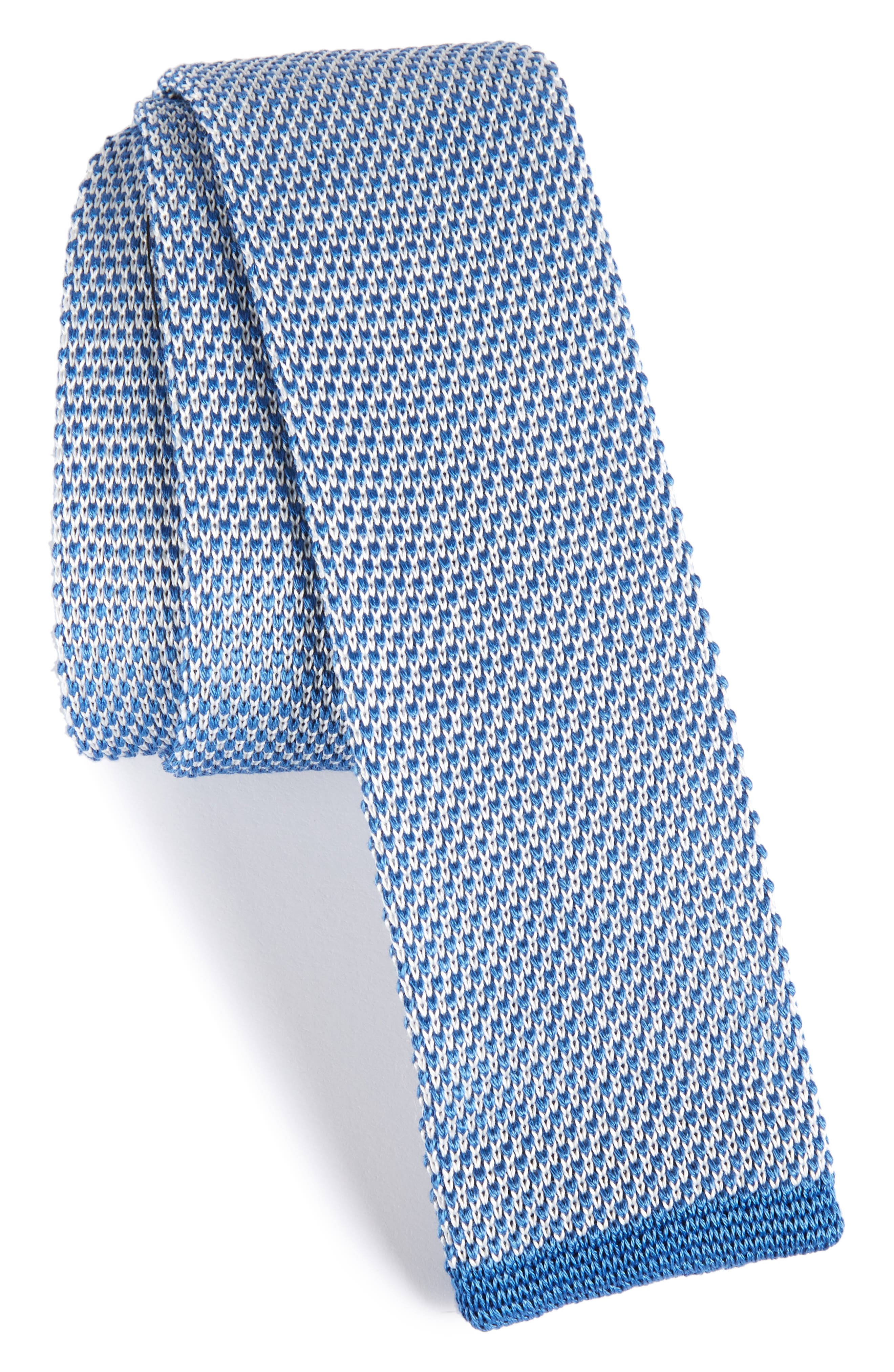 BOSS Solid Knit Cotton Tie