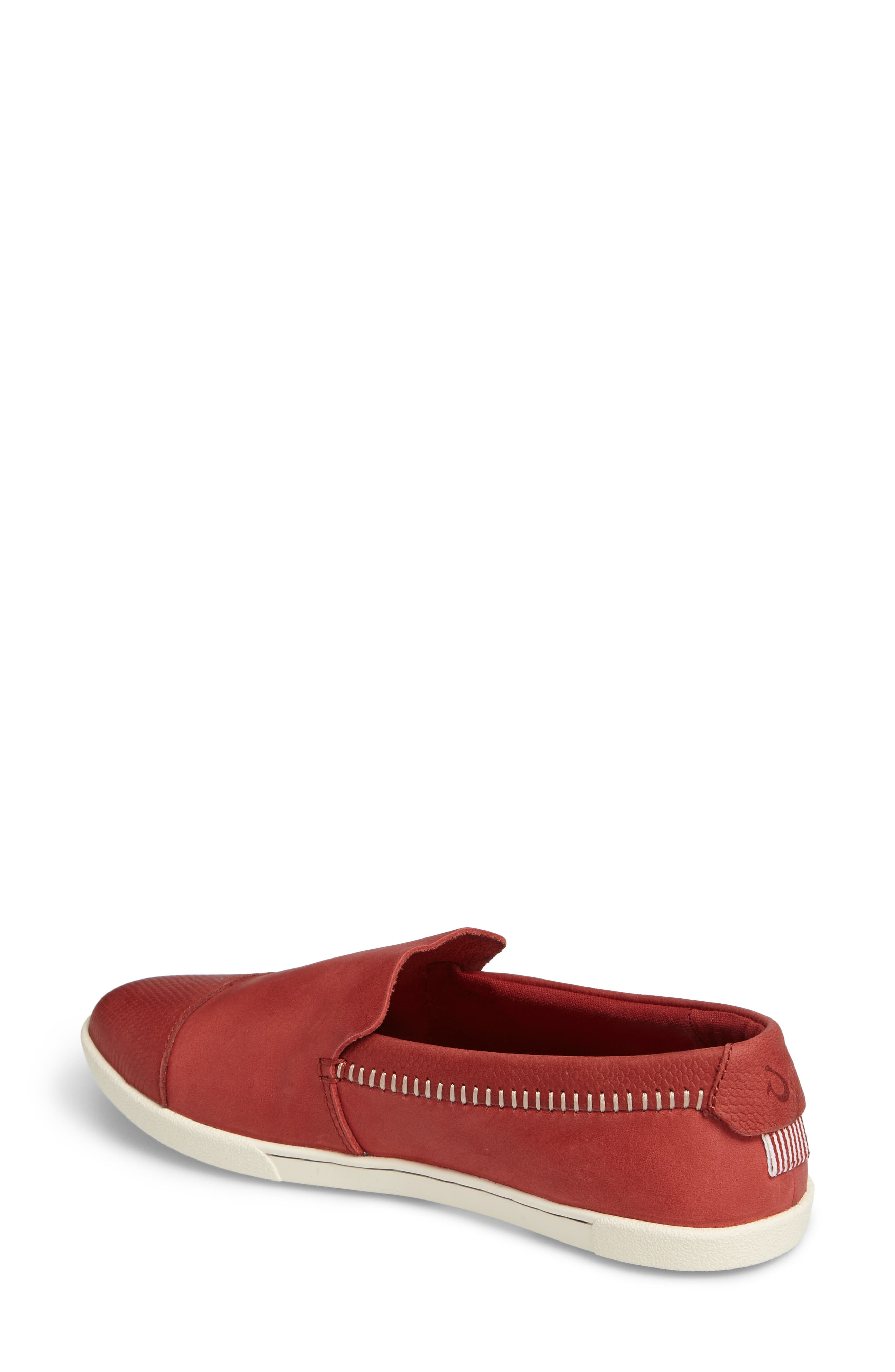 Alohi Embossed Cap Toe Slip-On,                             Alternate thumbnail 2, color,                             Red Mud/ Red Mud Leather