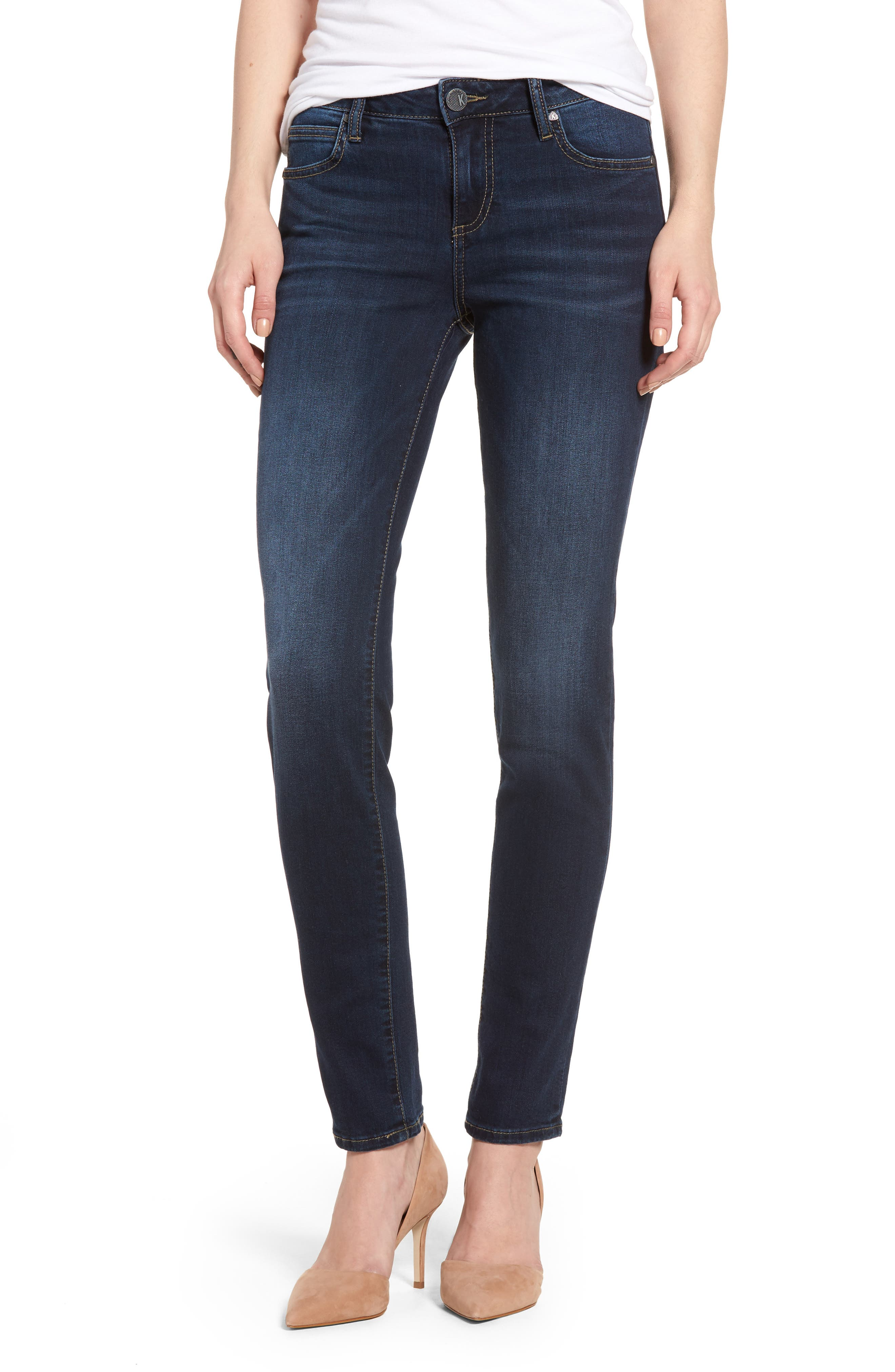 Diana Curvy Fit Skinny Jeans,                         Main,                         color, Likeable W/ Dk Stone Base Wash