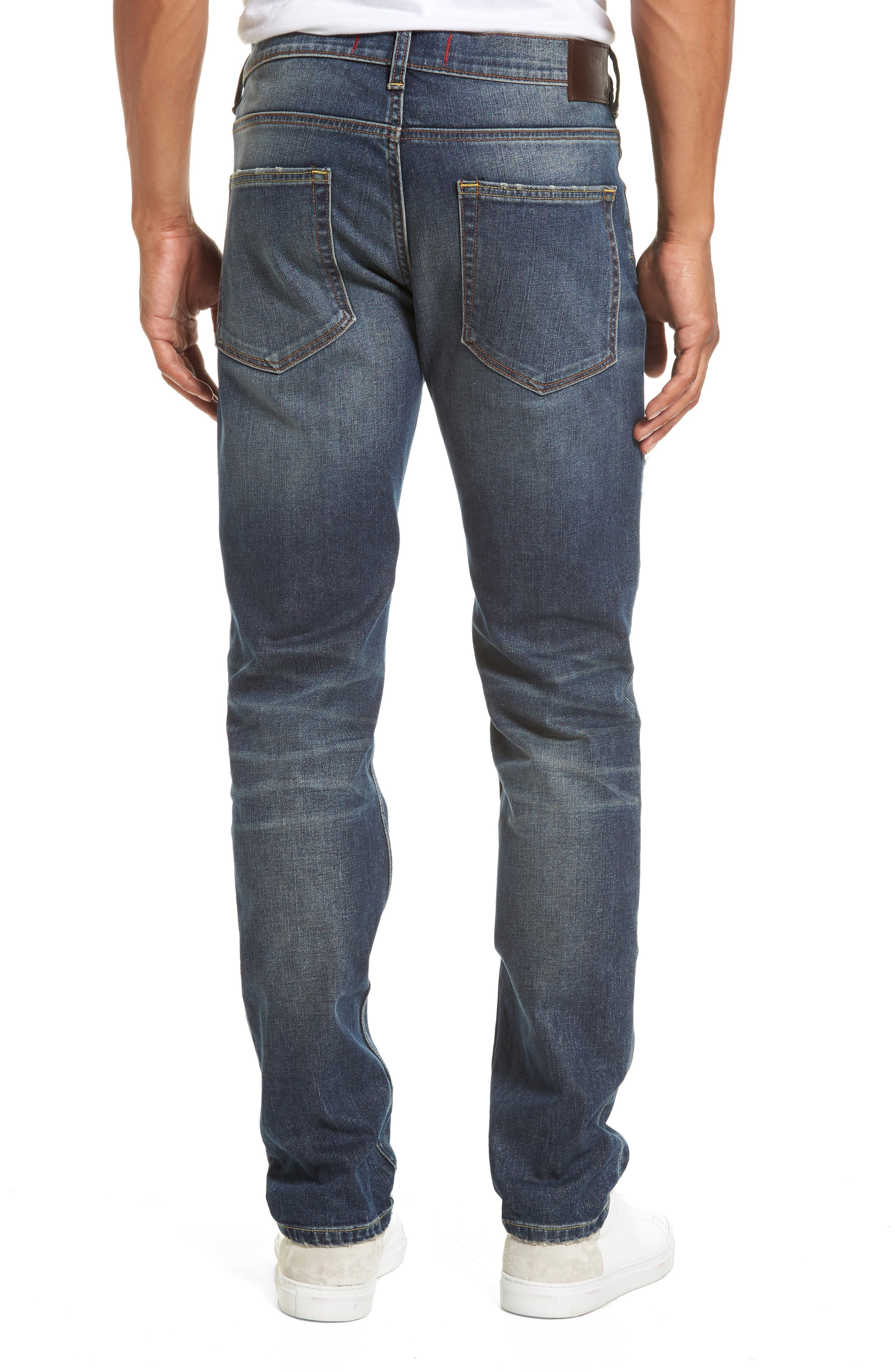 Alternate Image 2  - French Connection Slim Fit Distressed Jeans (Vintage & Holes)