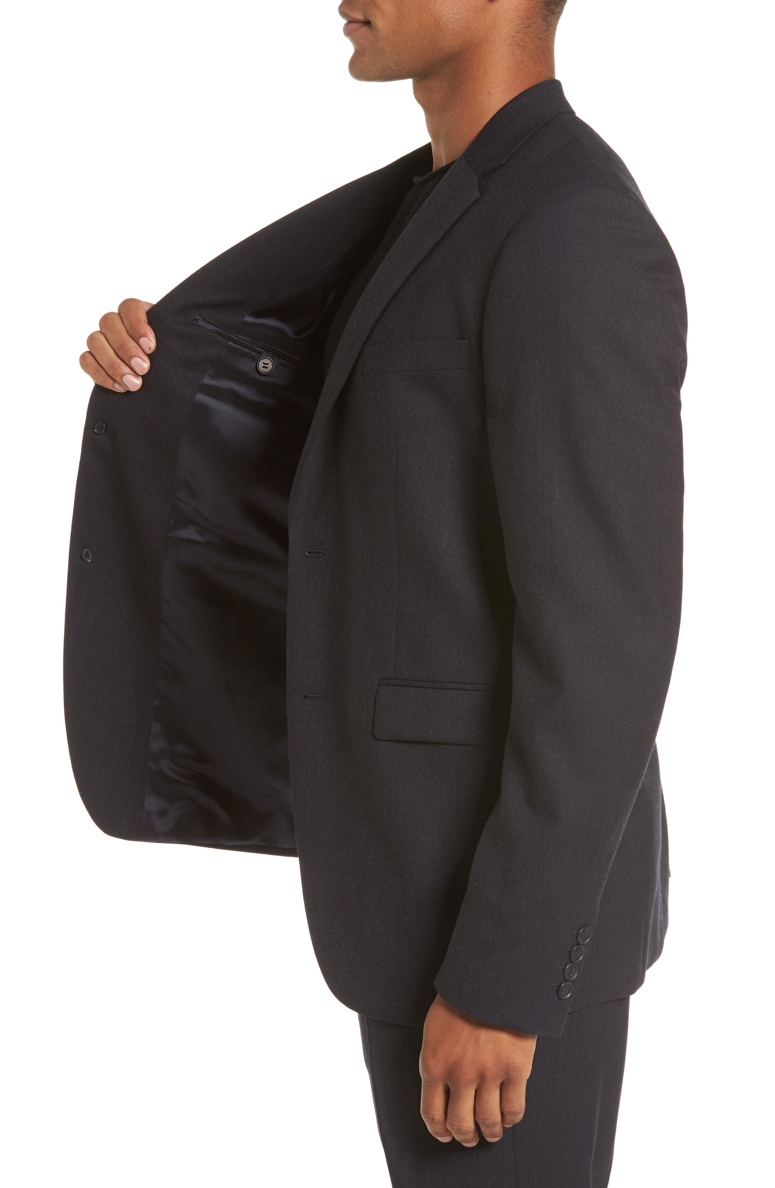 Regular Fit Blazer,                             Alternate thumbnail 3, color,                             Charcoal