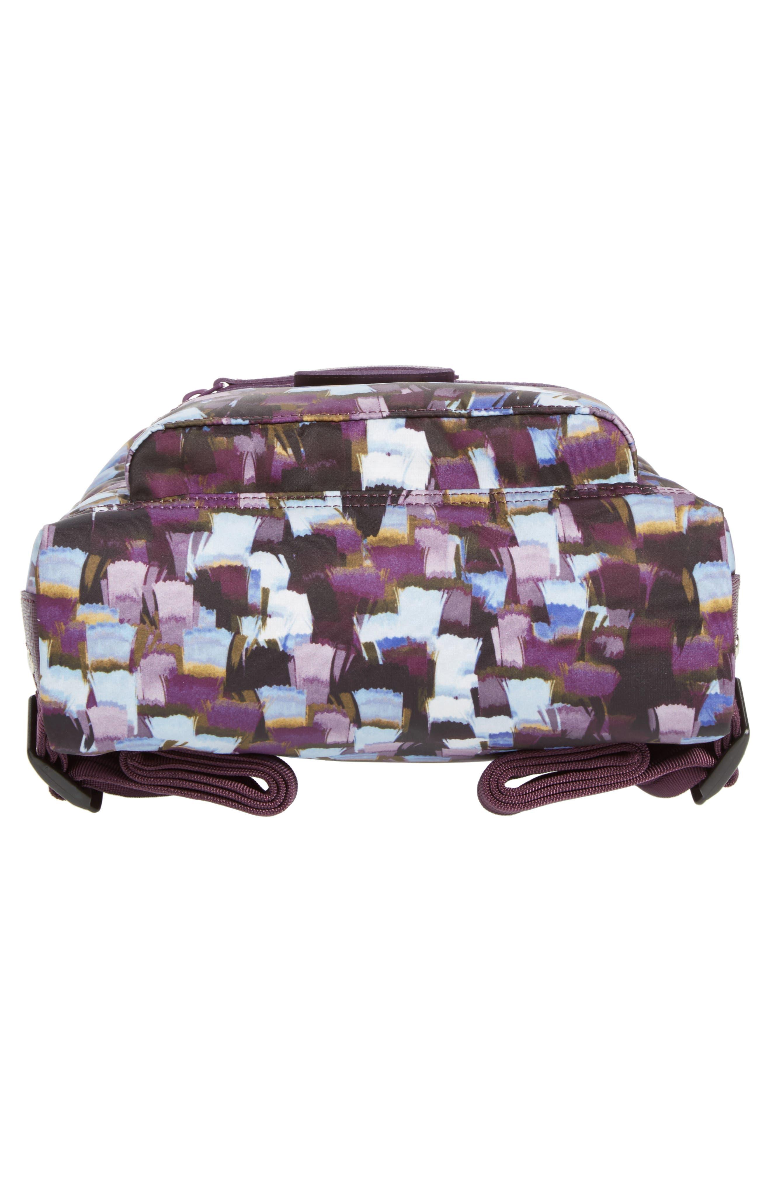 Le Pliage Neo - Vibrations Nylon Backpack,                             Alternate thumbnail 5, color,                             Deep Purple