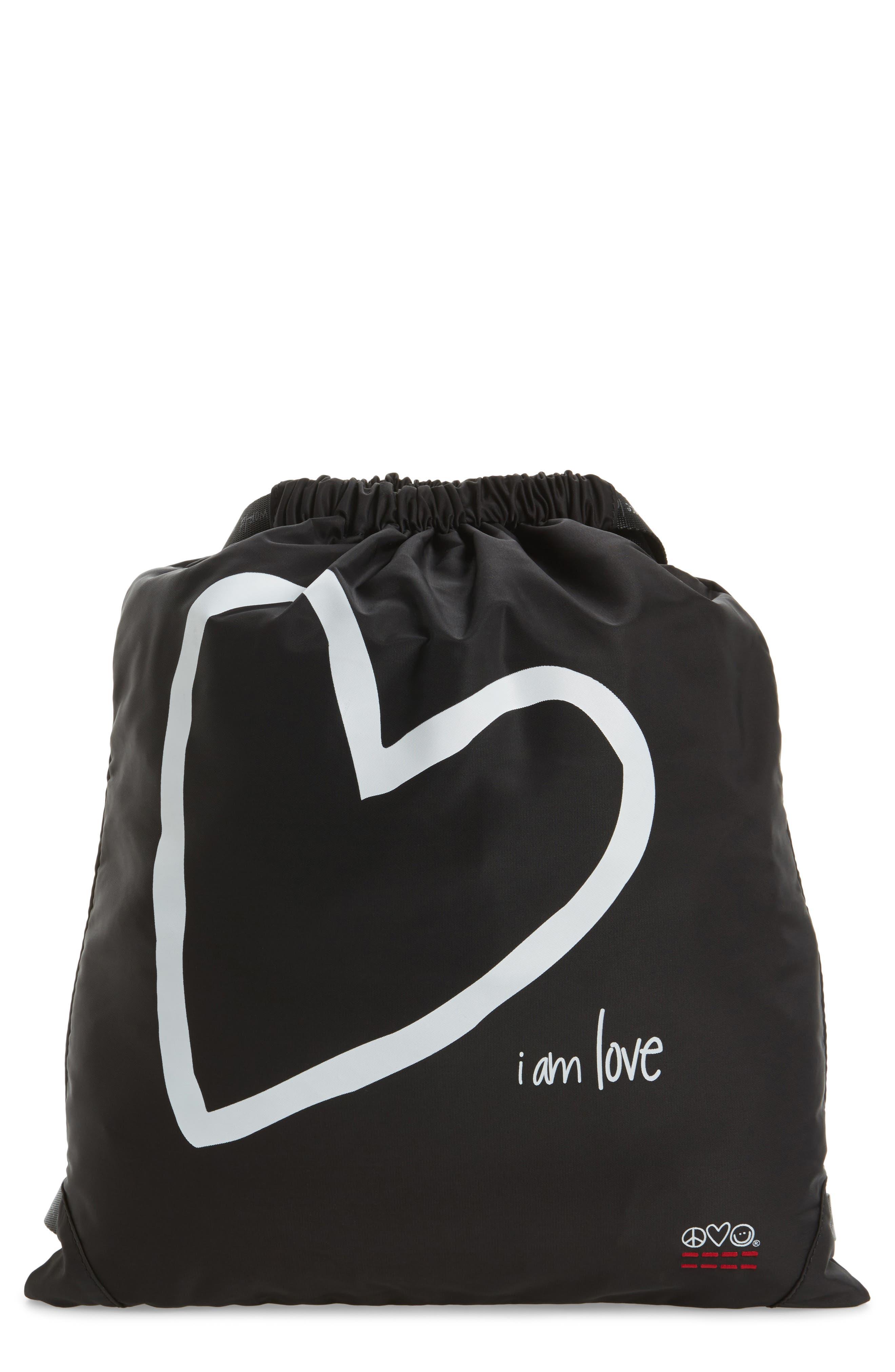 Alternate Image 1 Selected - Peace Love World Drawstring Nylon Backpack