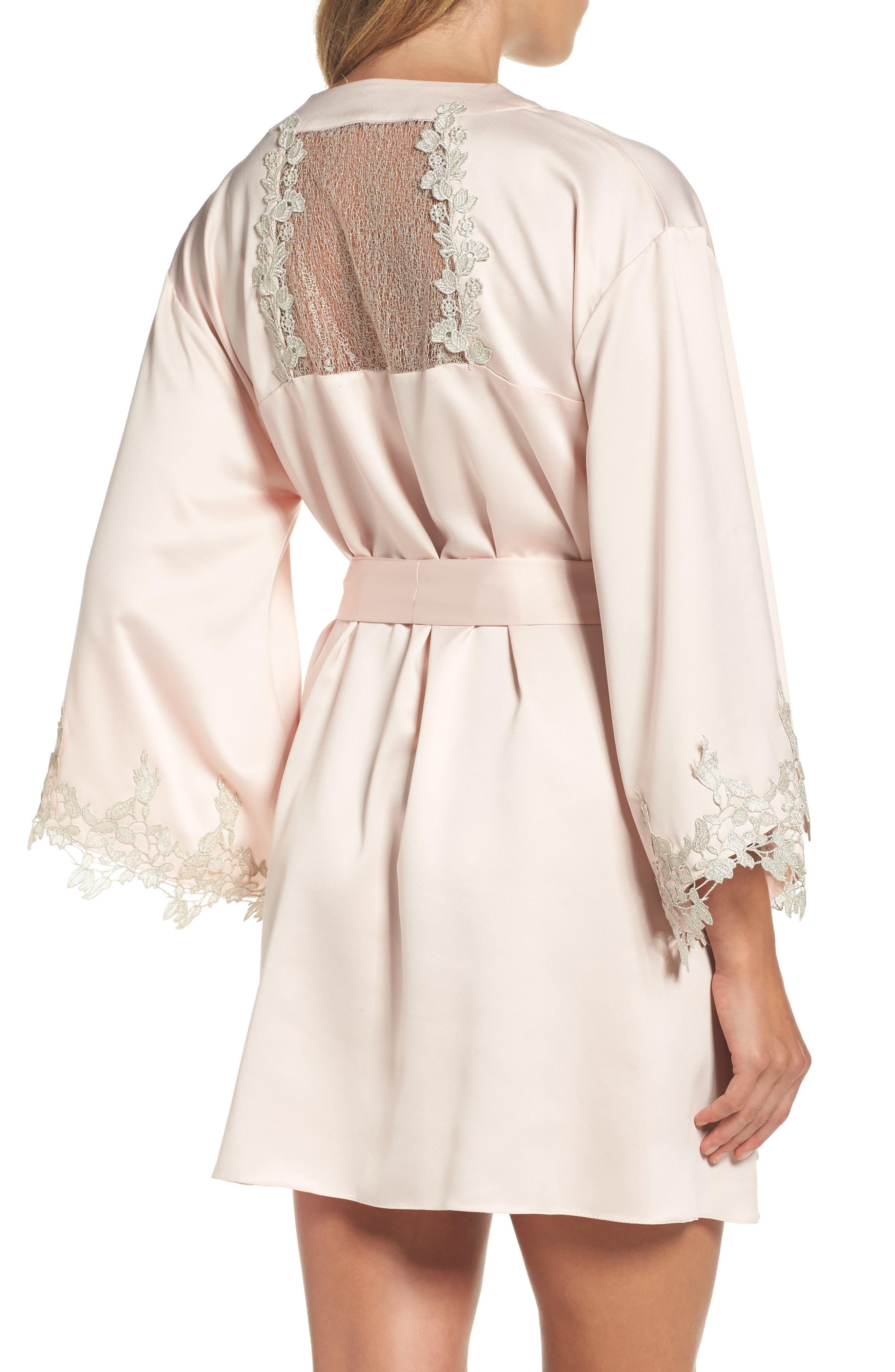 Alternate Image 2  - Flora Nikrooz Alessia Charm Satin Robe