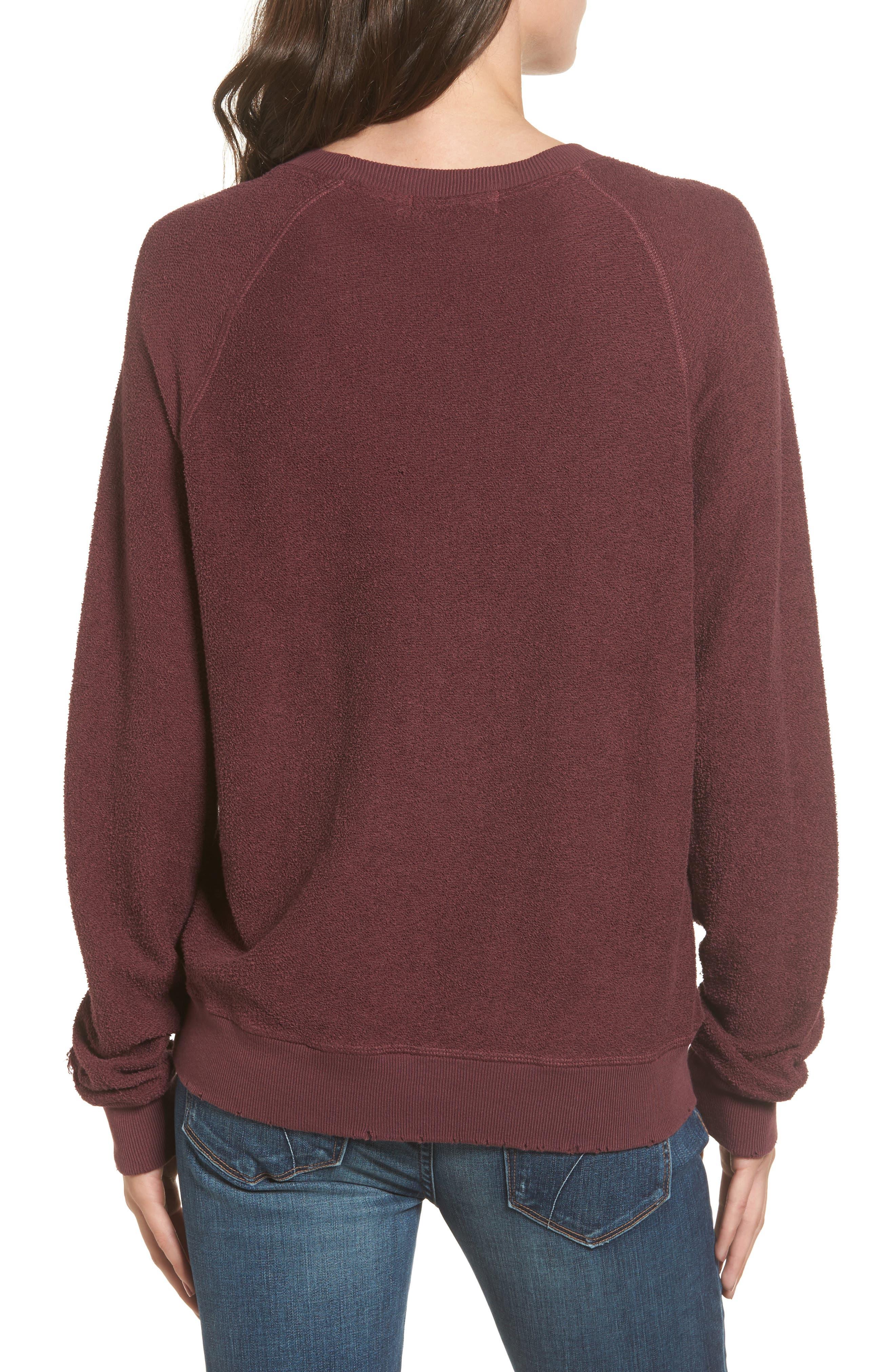 Alternate Image 2  - n:PHILANTHROPY Holden Reverse Distressed Sweatshirt