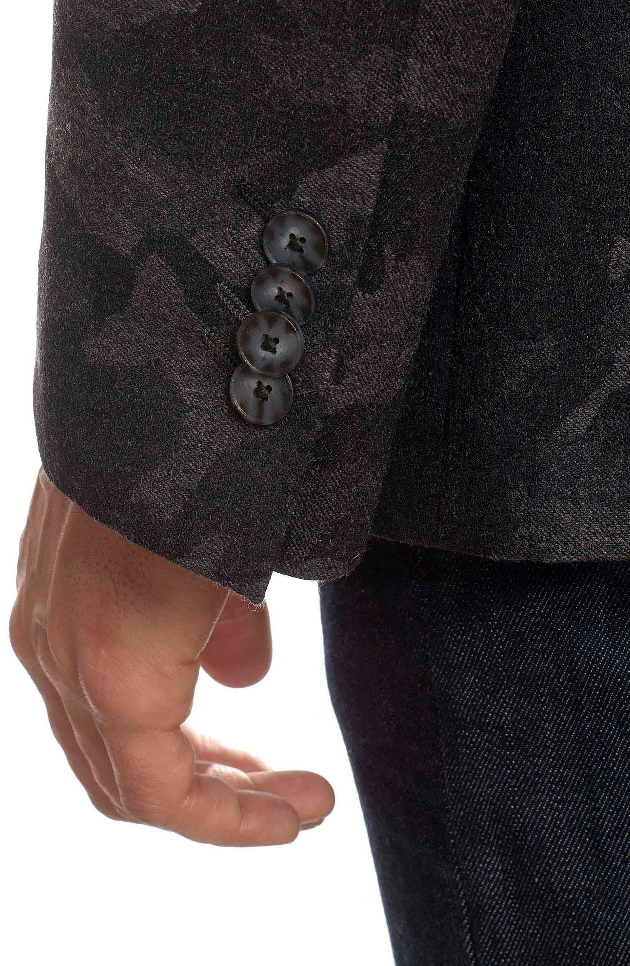 Portgain Classic Fit Sport Coat,                             Alternate thumbnail 3, color,                             Grey
