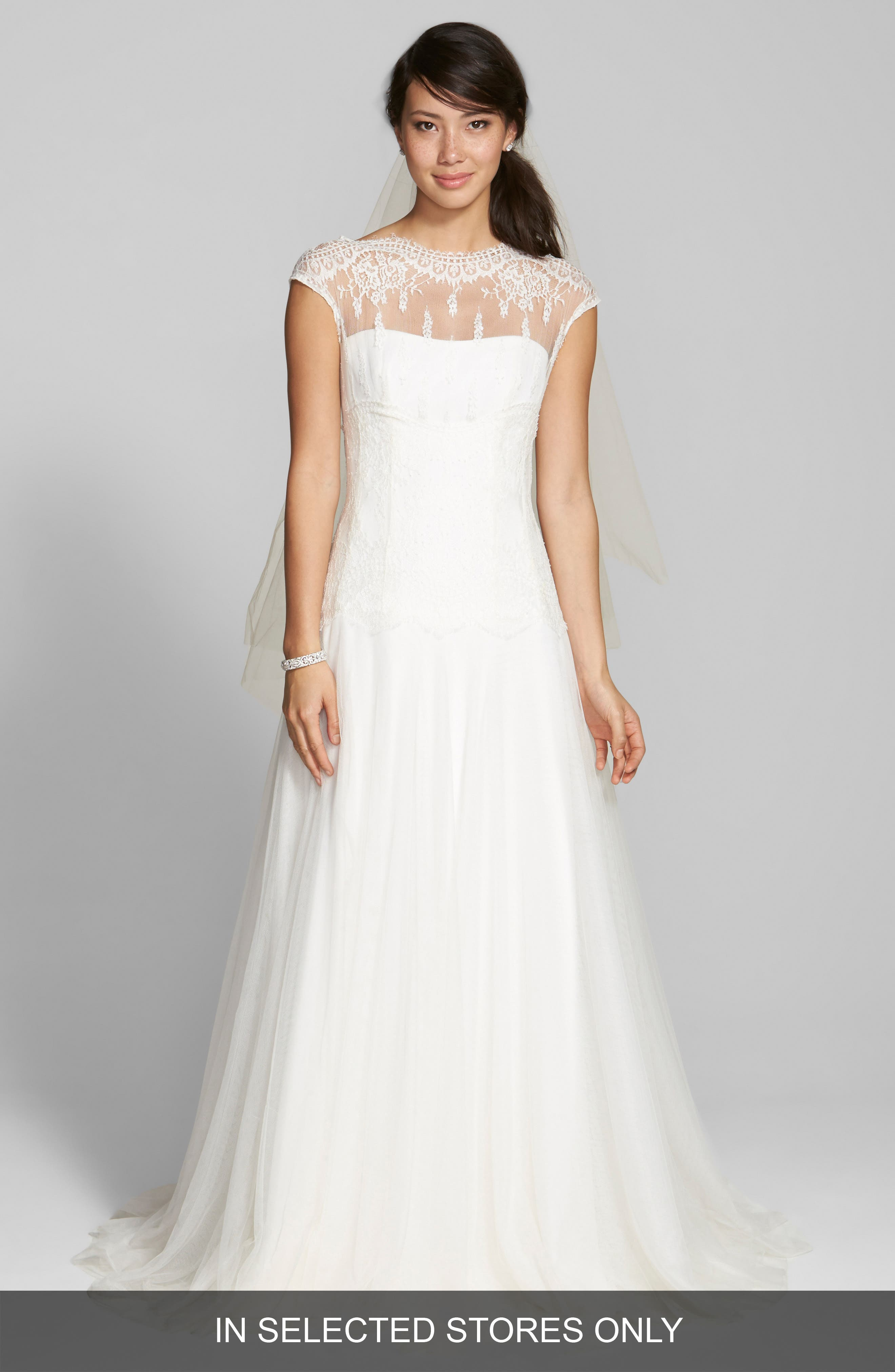 Jesús Peiró Illusion Yoke Lace & Tulle Dress (In Stores Only)