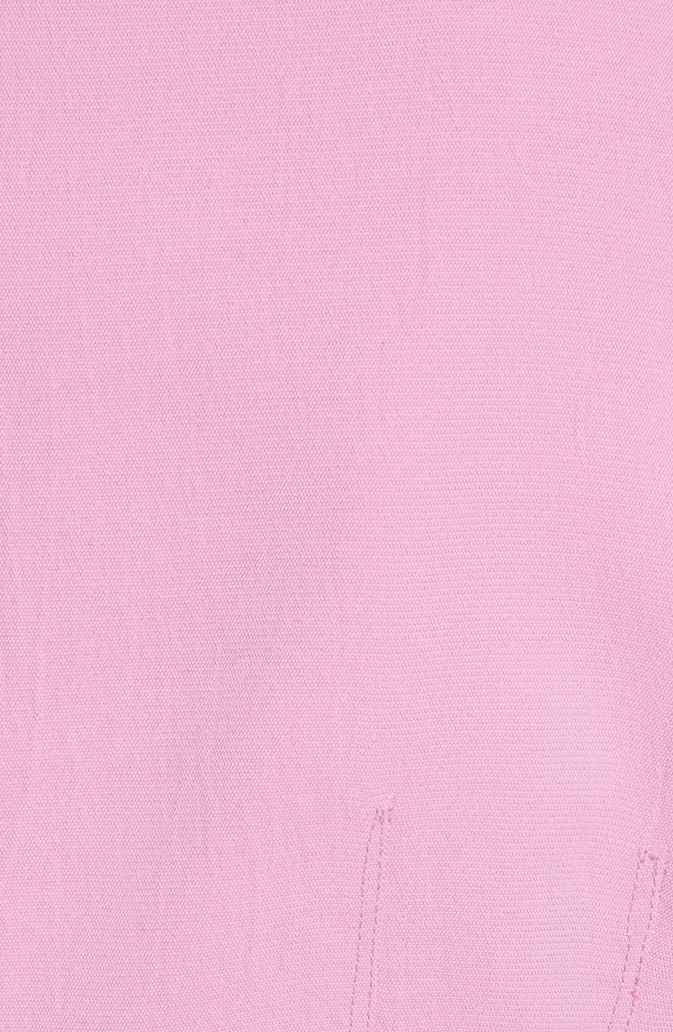 Draped Twill Corset Top,                             Alternate thumbnail 5, color,                             Pink