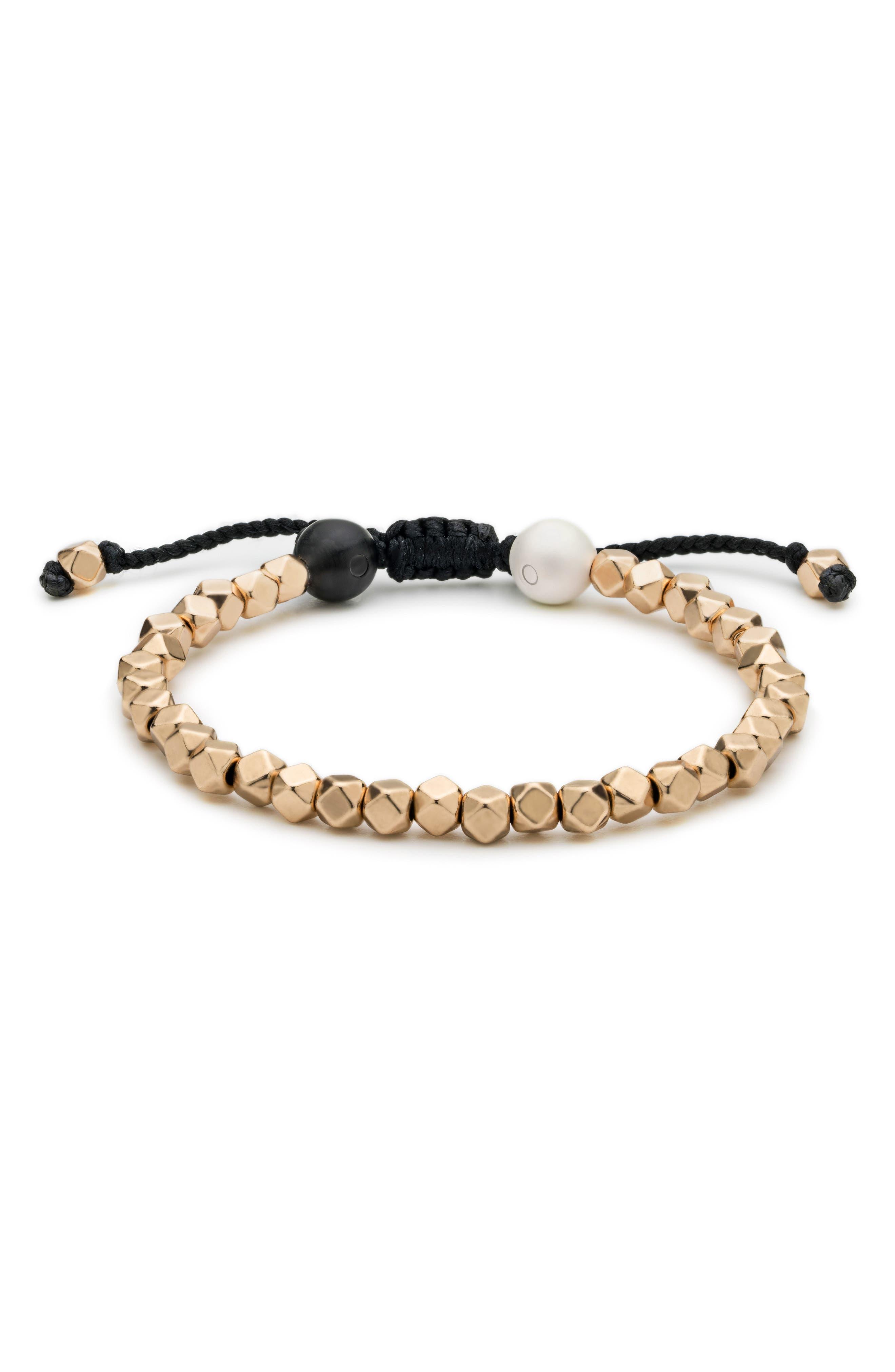 Multi Bead Bracelet,                         Main,                         color, Gold