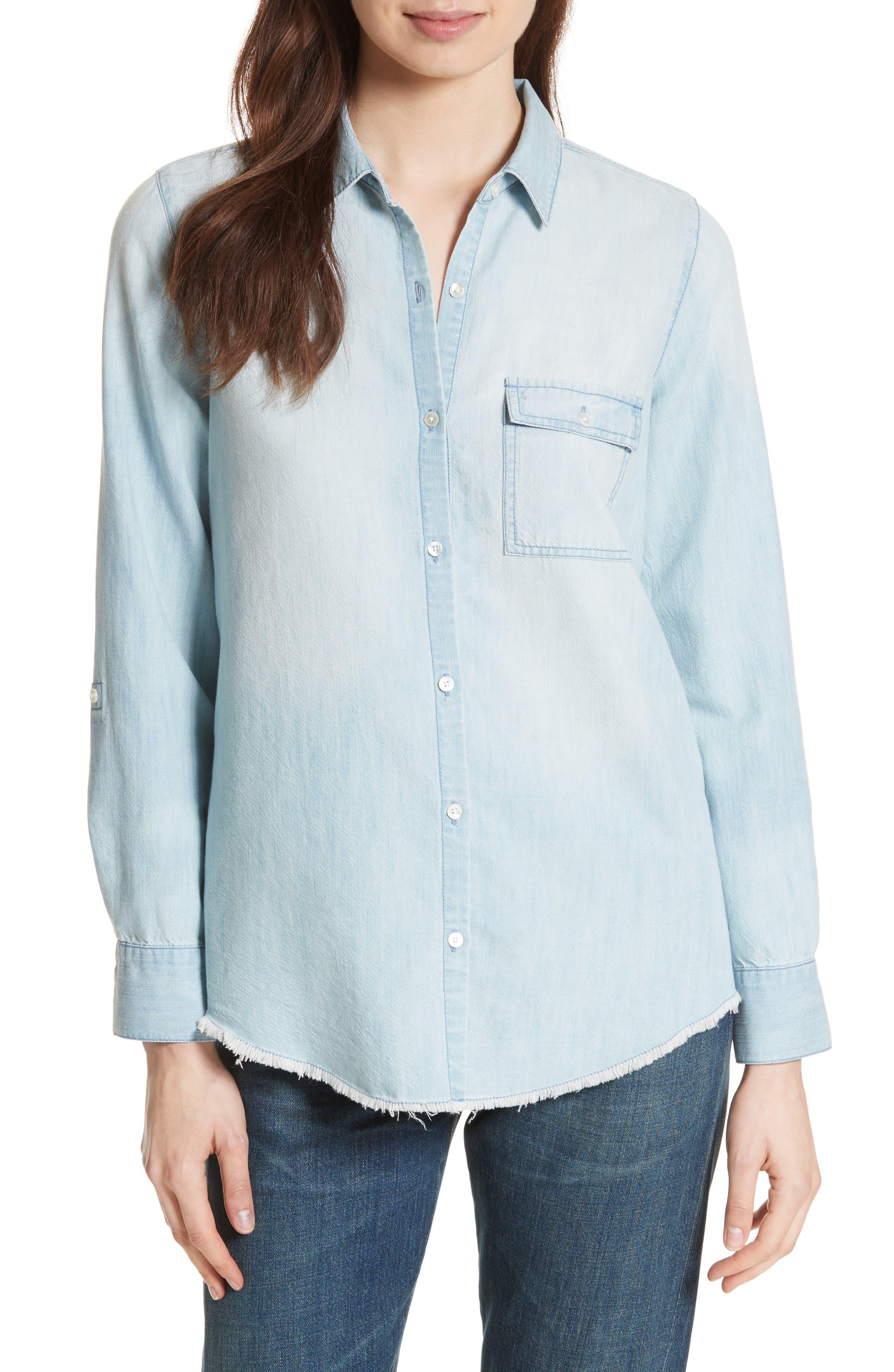 Onyx B Chambray Shirt,                         Main,                         color, Vintage Chambray Wash