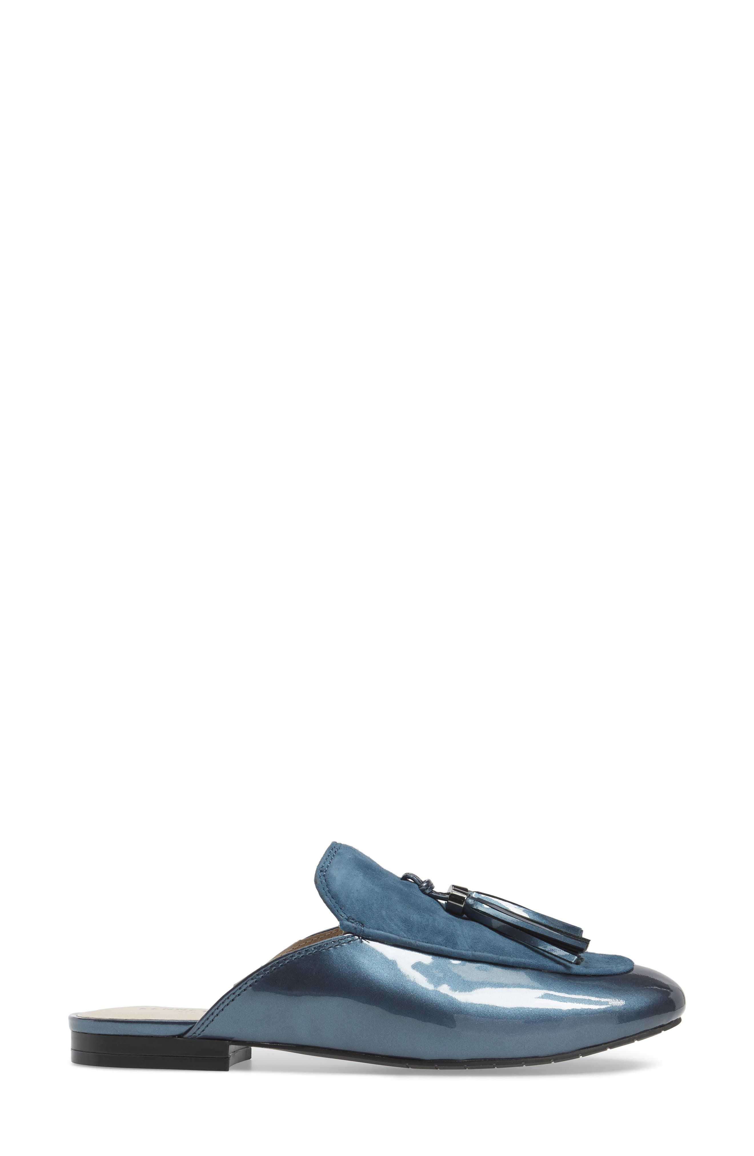Whinnie Loafer Mule,                             Alternate thumbnail 3, color,                             Indigo Patent Leather