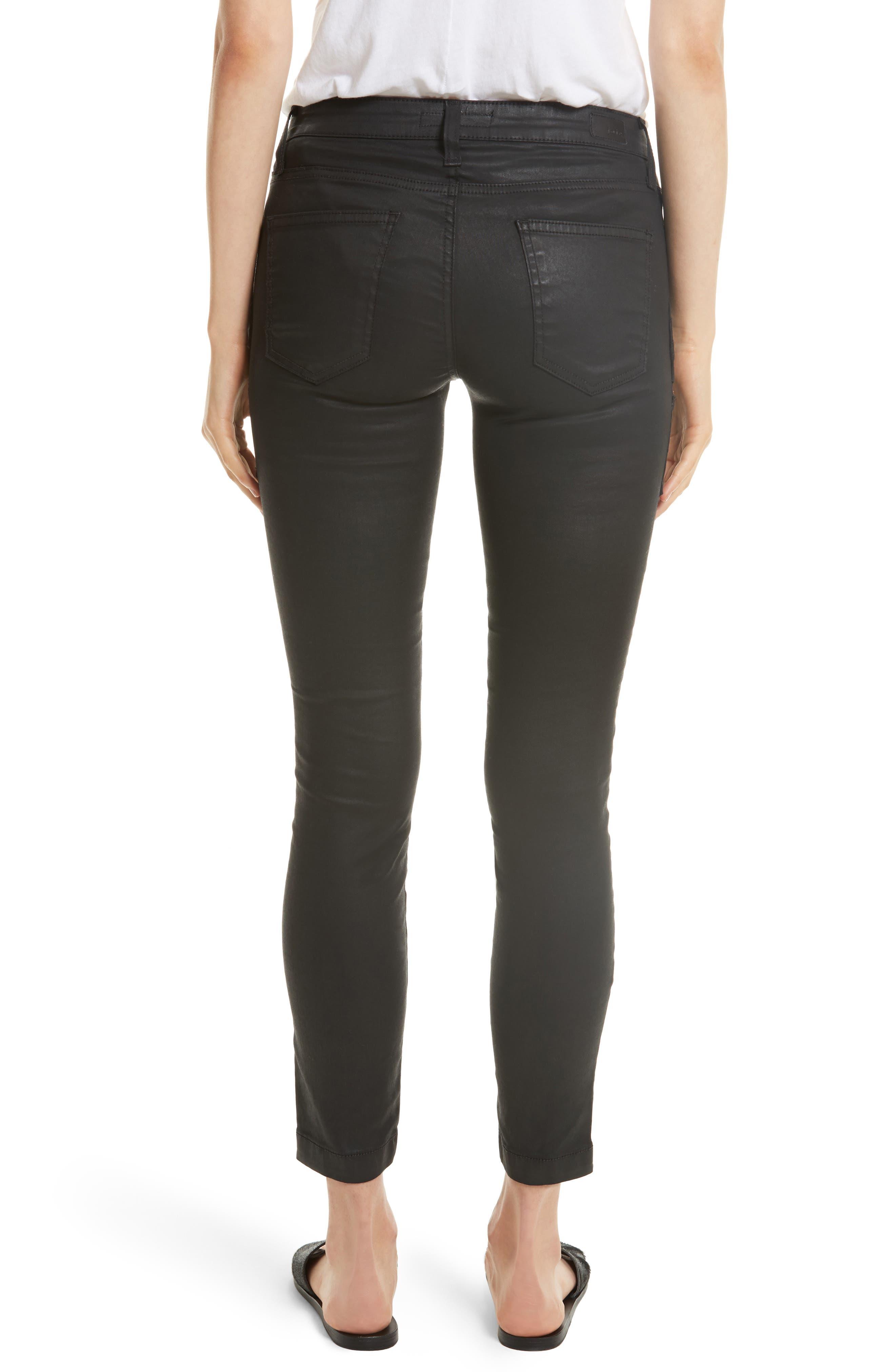 Park B Coated Skinny Jeans,                             Alternate thumbnail 2, color,                             Caviar