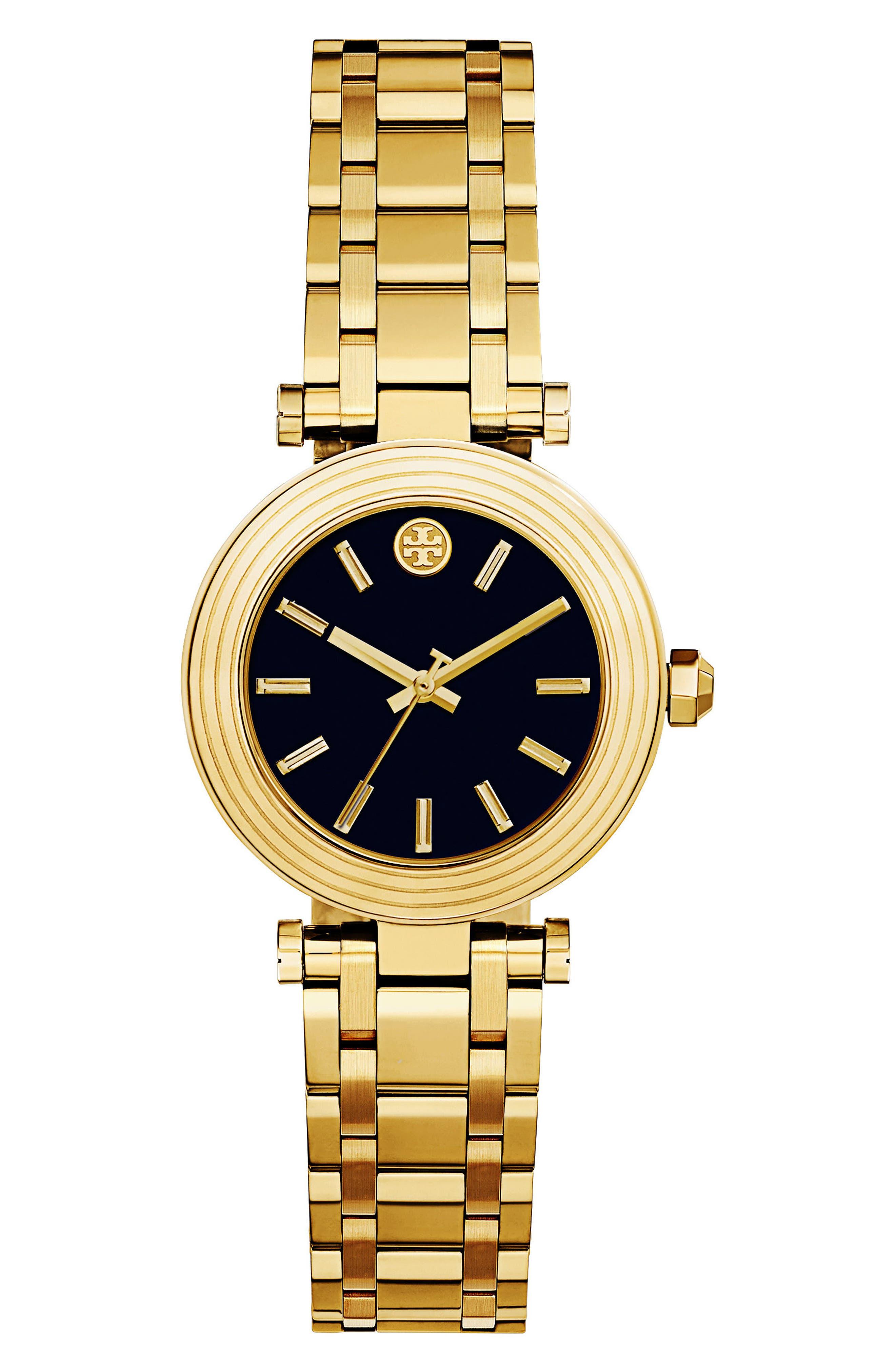 Classic-T Bracelet Watch, 30mm,                             Main thumbnail 1, color,                             Gold/ Black/ Gold