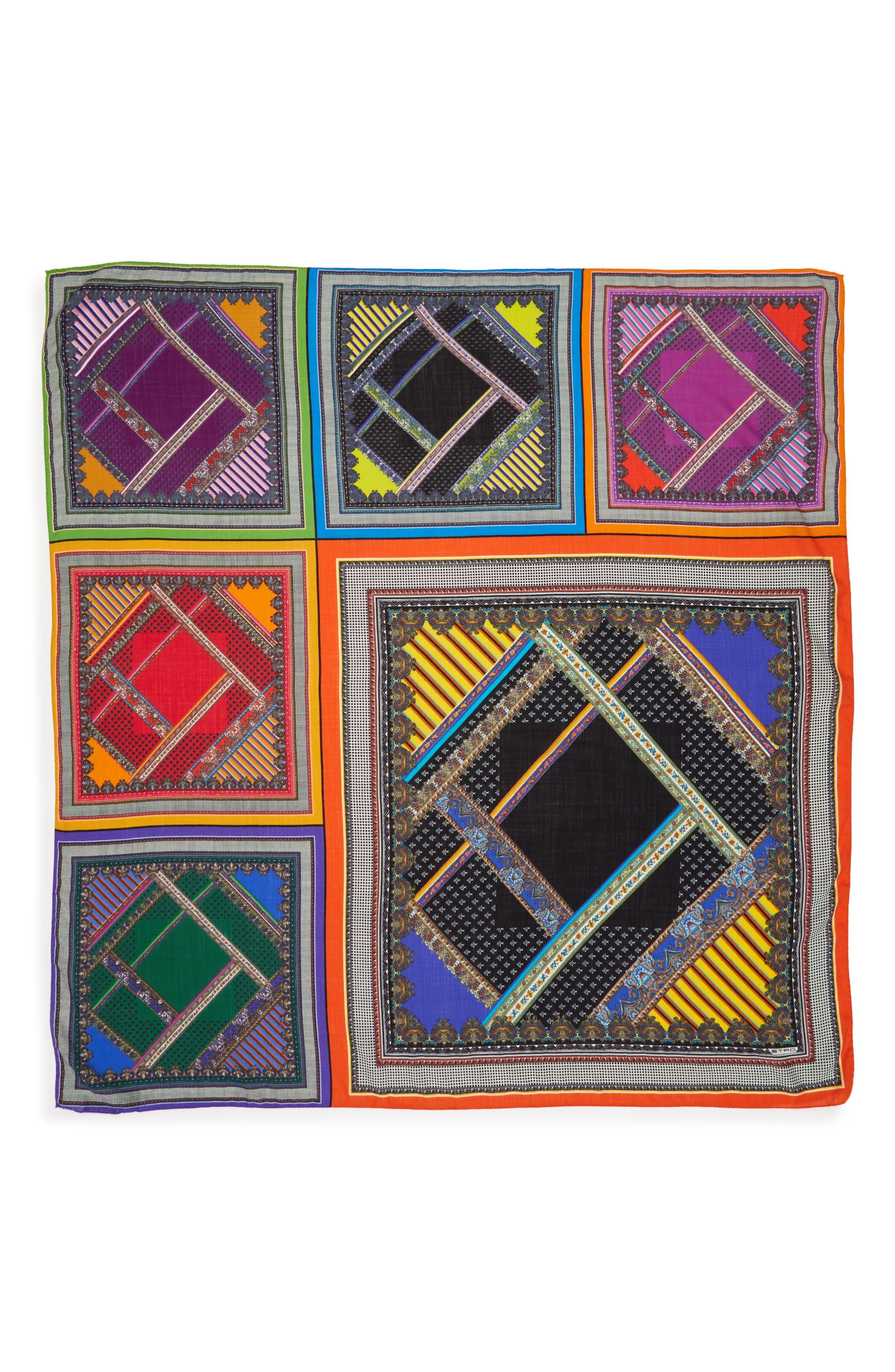 Wool & Silk Scarf,                         Main,                         color, Purple