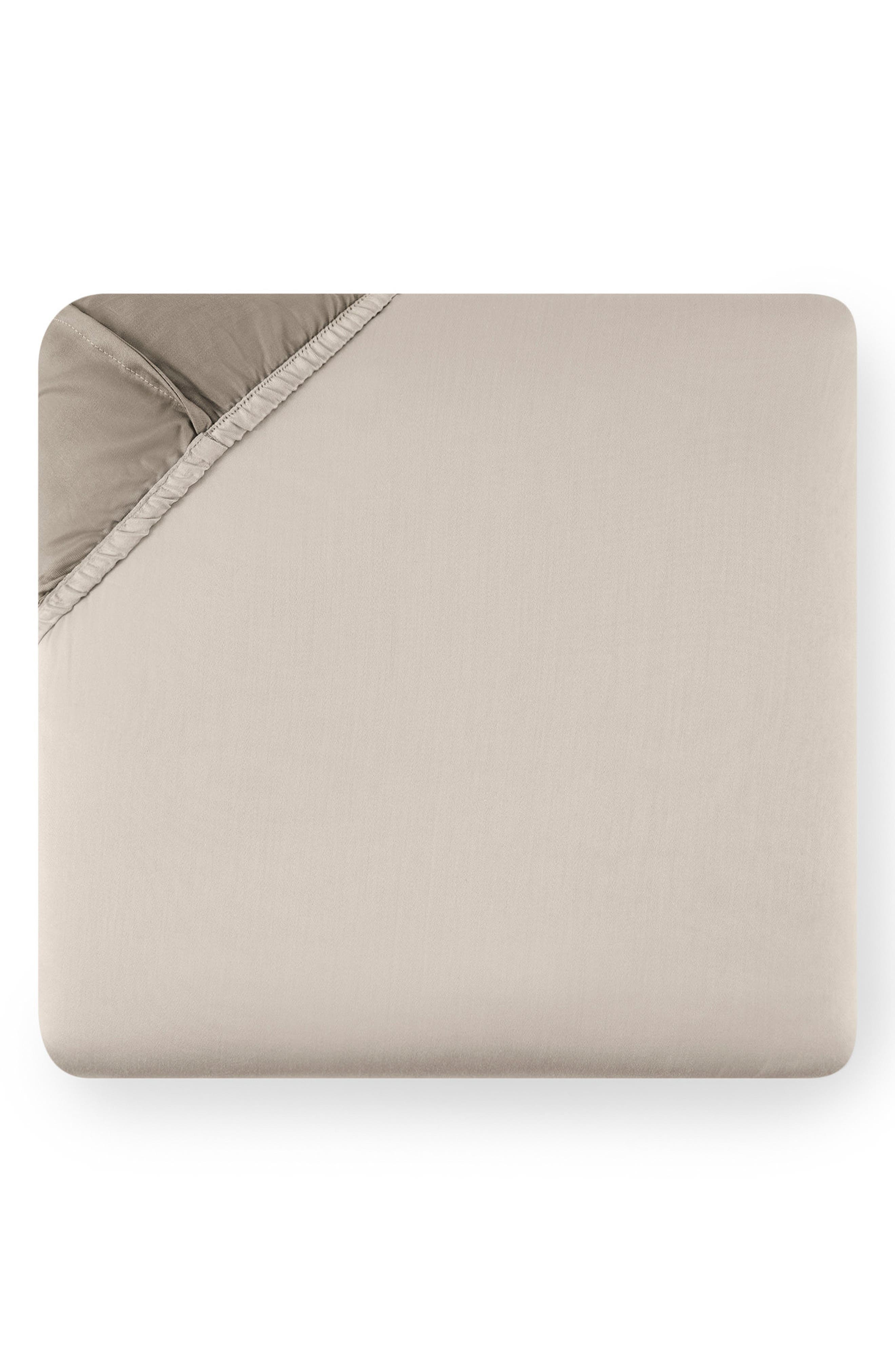 Larro 420 Thread Count Fitted Sheet,                             Main thumbnail 1, color,                             Nougat