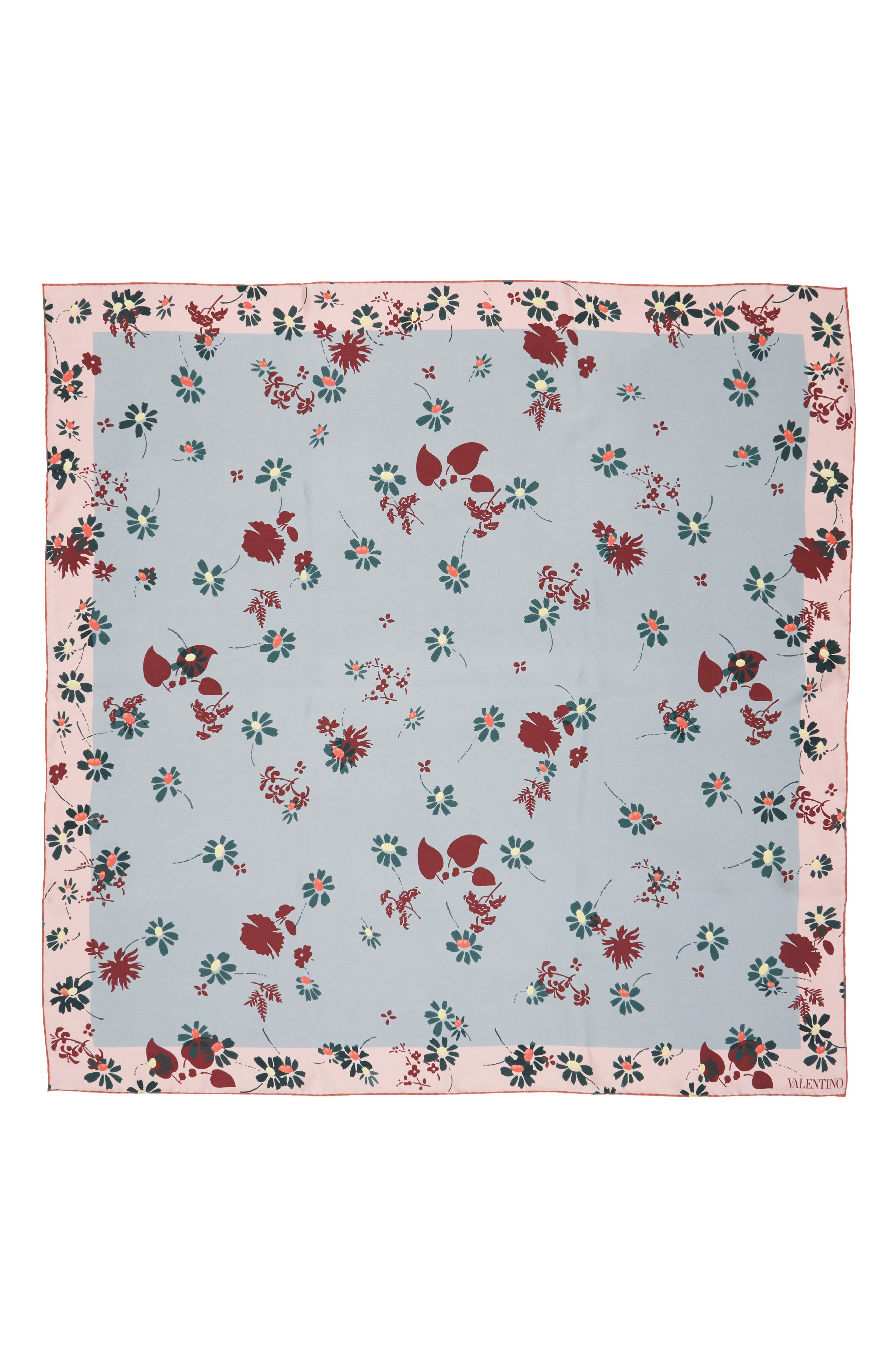 Alternate Image 1 Selected - Valentino Flowers Fall Silk Scarf