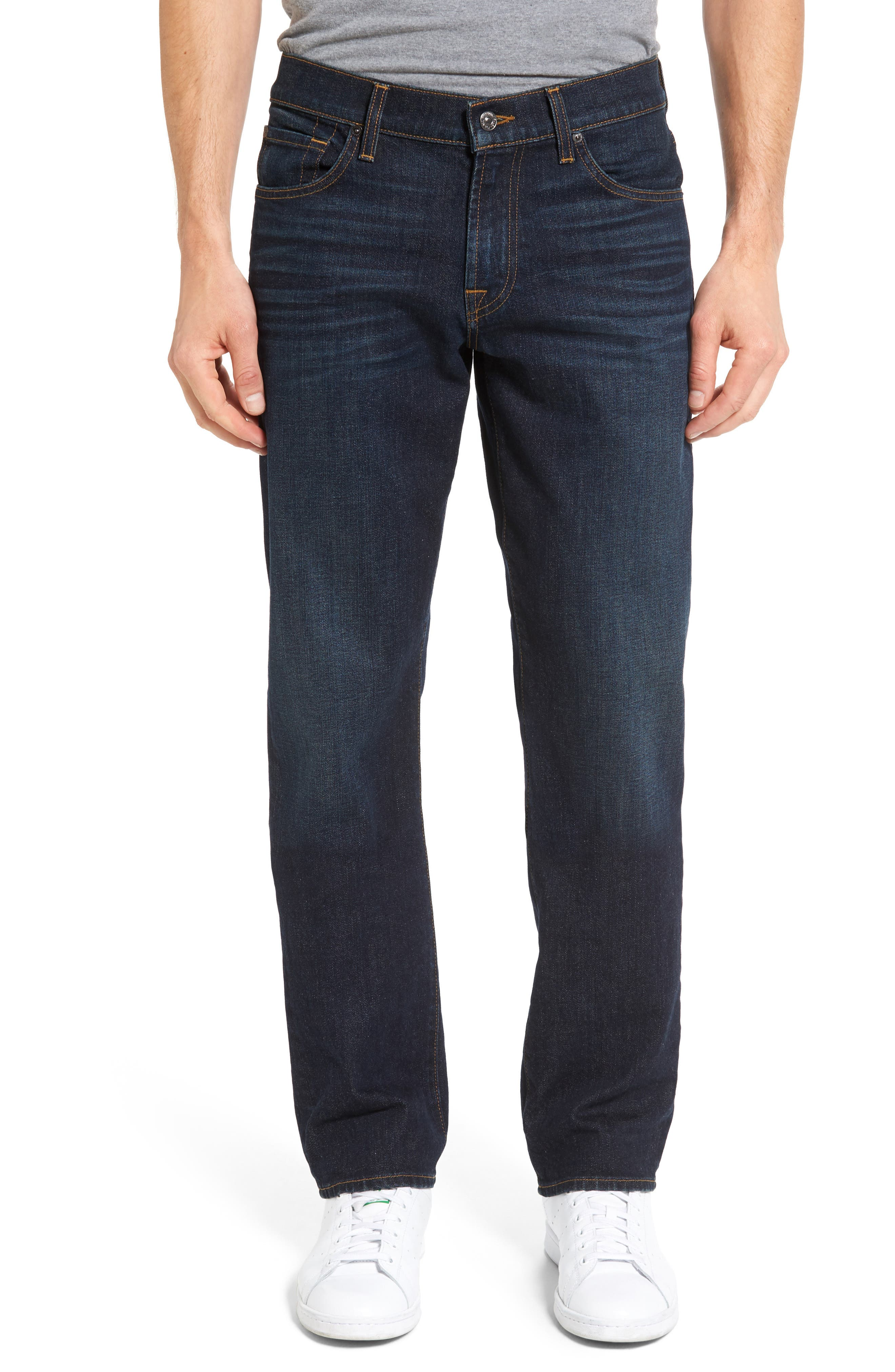 Main Image - 7 For All Mankind® Standard Straight Leg Jeans (Pike)