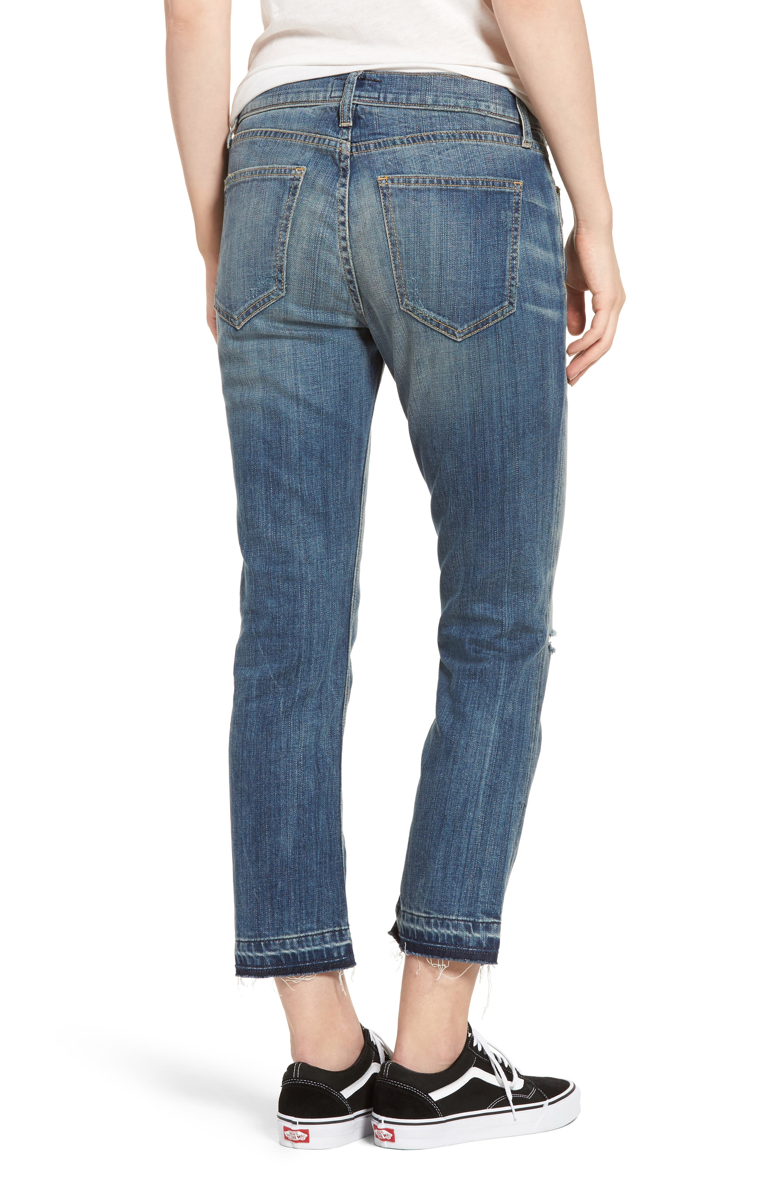Alternate Image 2  - Current/Elliott The Cropped Straight Released Hem Jeans