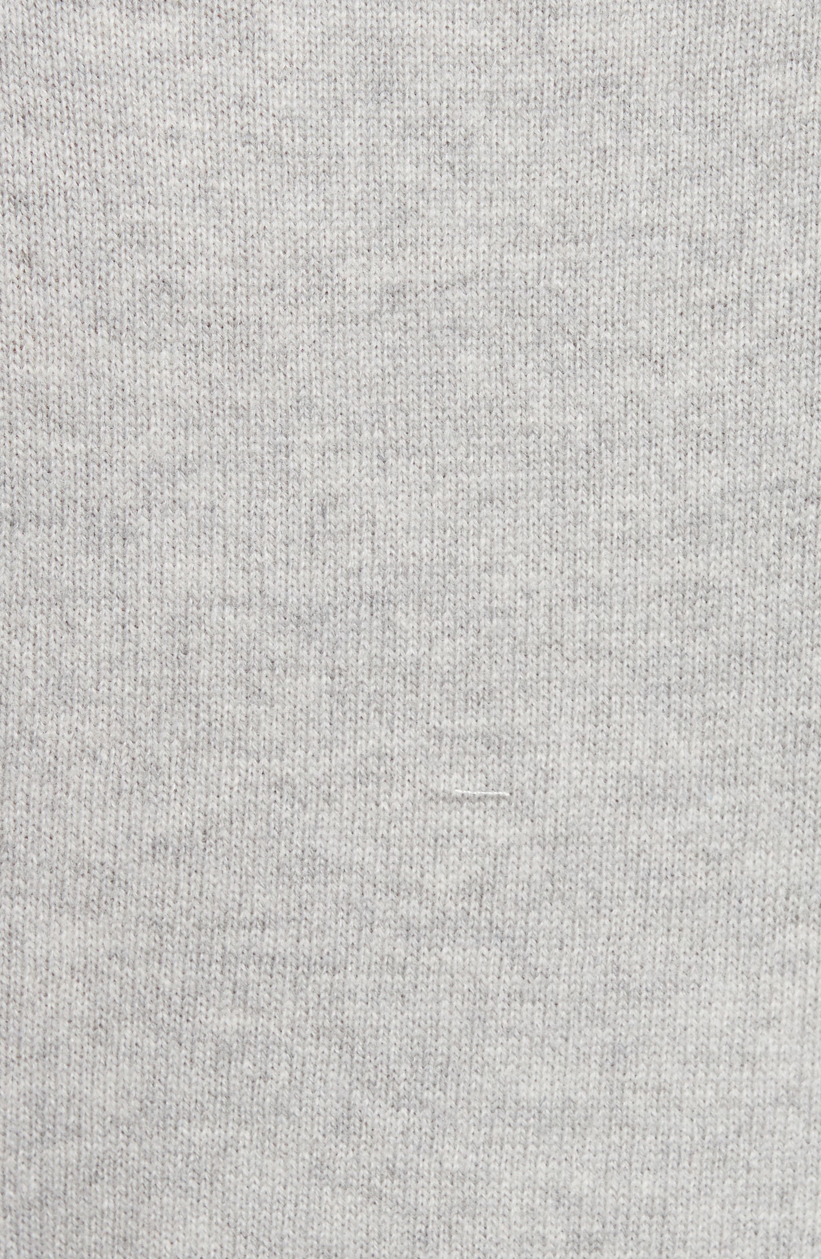 Tie Front Wool Sweater Dress,                             Alternate thumbnail 5, color,                             Concrete