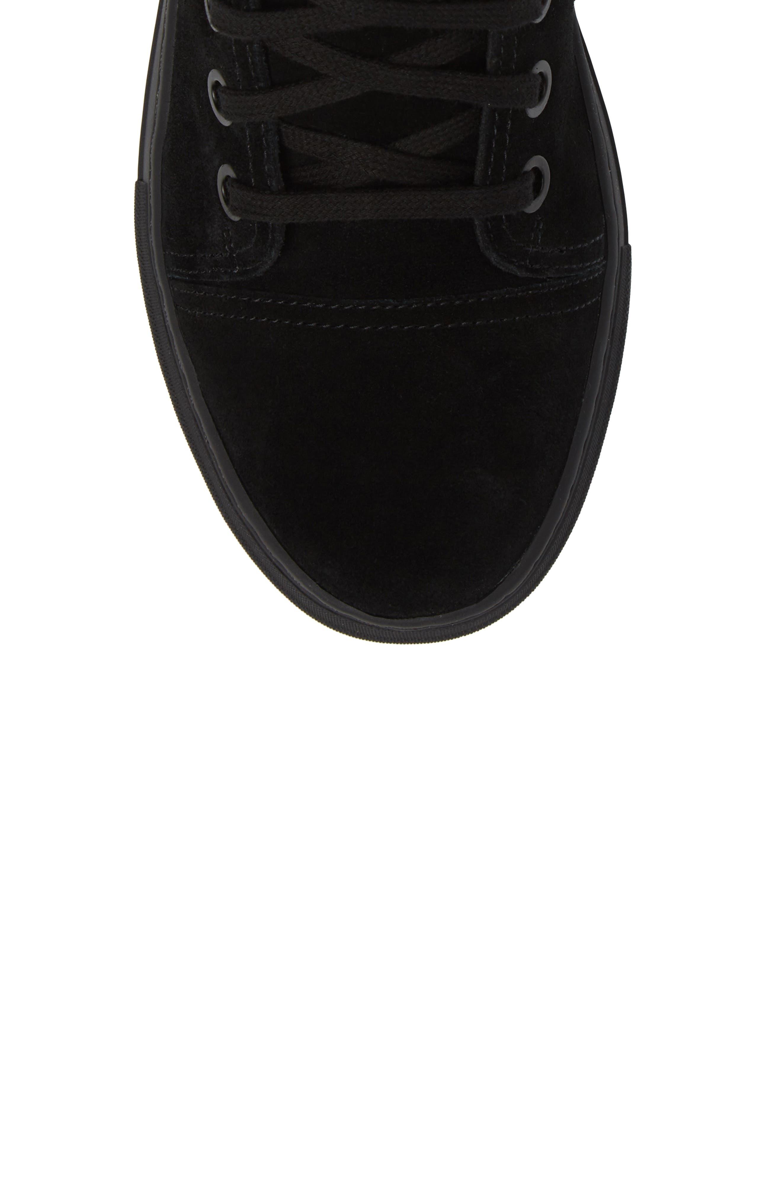 Ormisten Sneaker,                             Alternate thumbnail 4, color,                             Black Suede