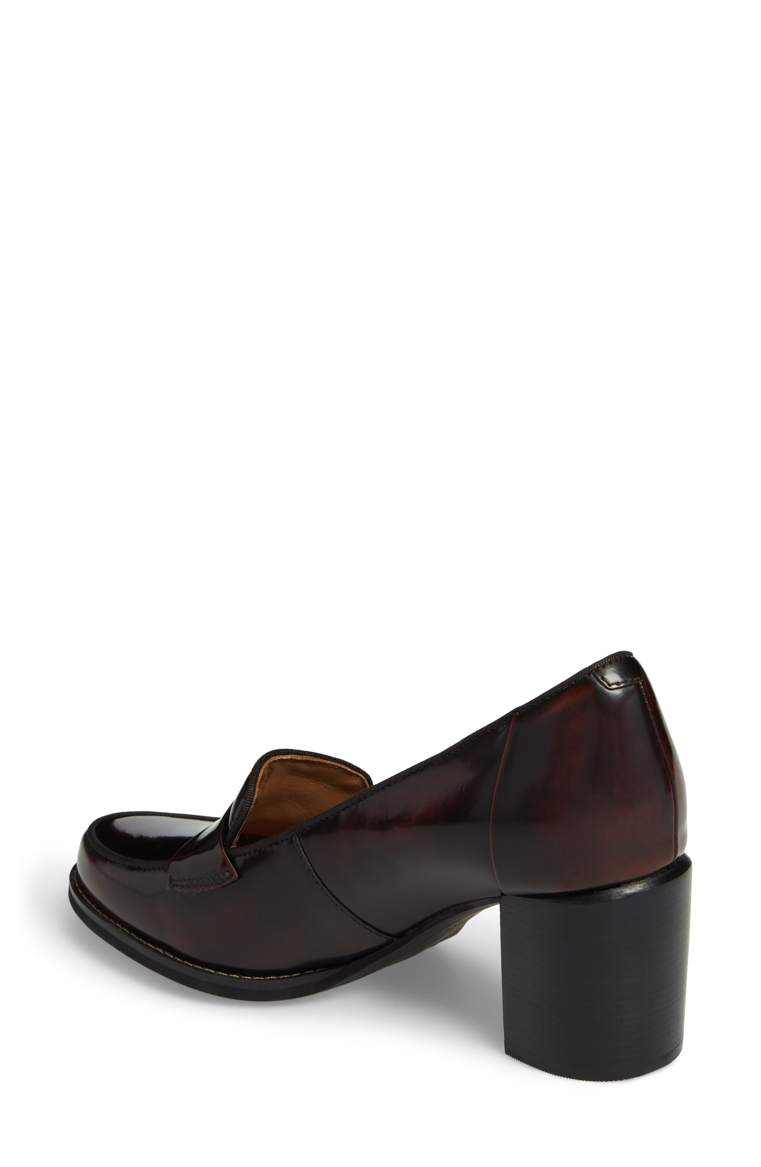 Tarah Grace Pump,                             Alternate thumbnail 2, color,                             Burgundy Leather