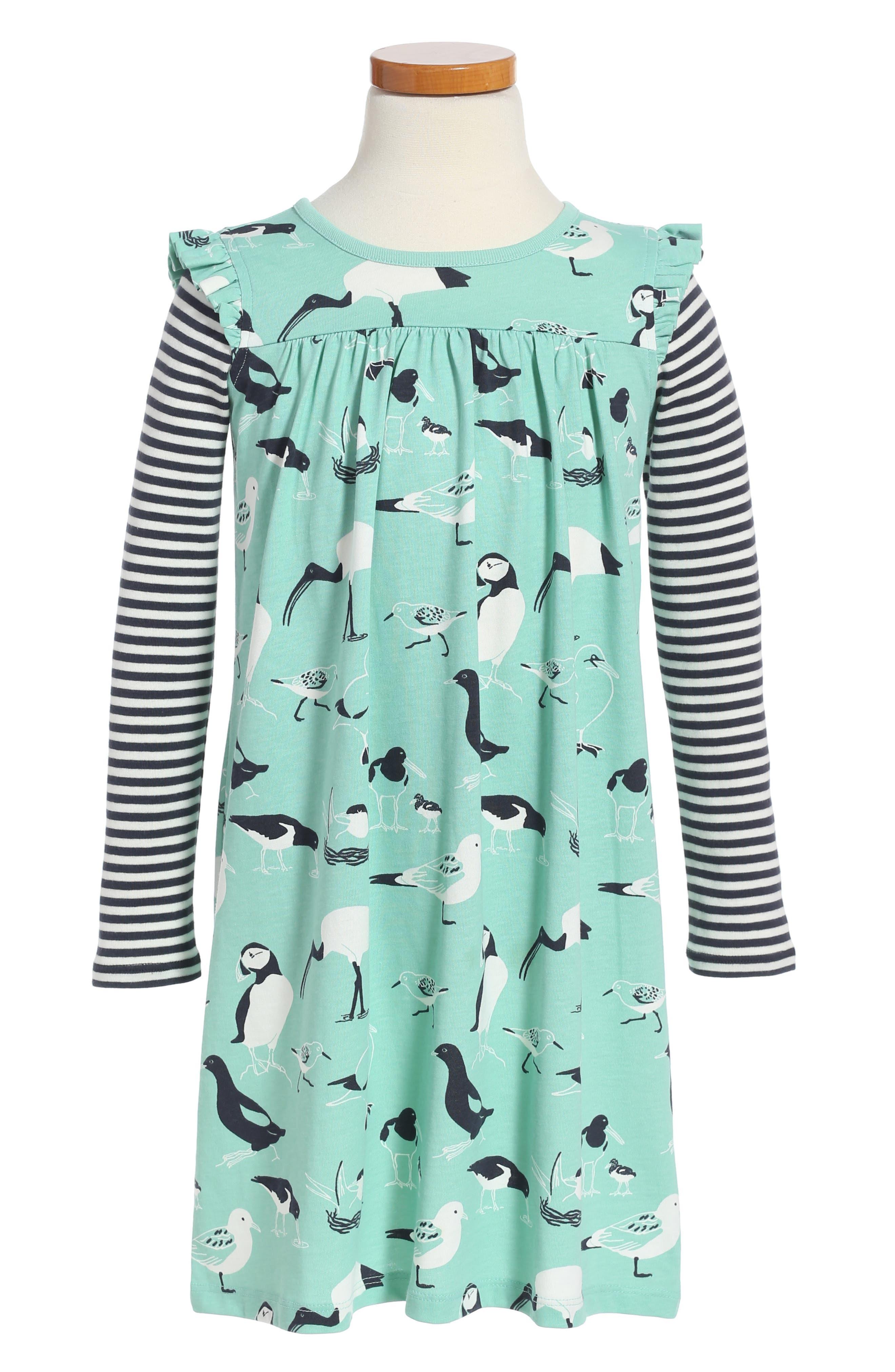 Tea Collection Seabirds Print Dress (Toddler Girls, Little Girls & Big Girls)