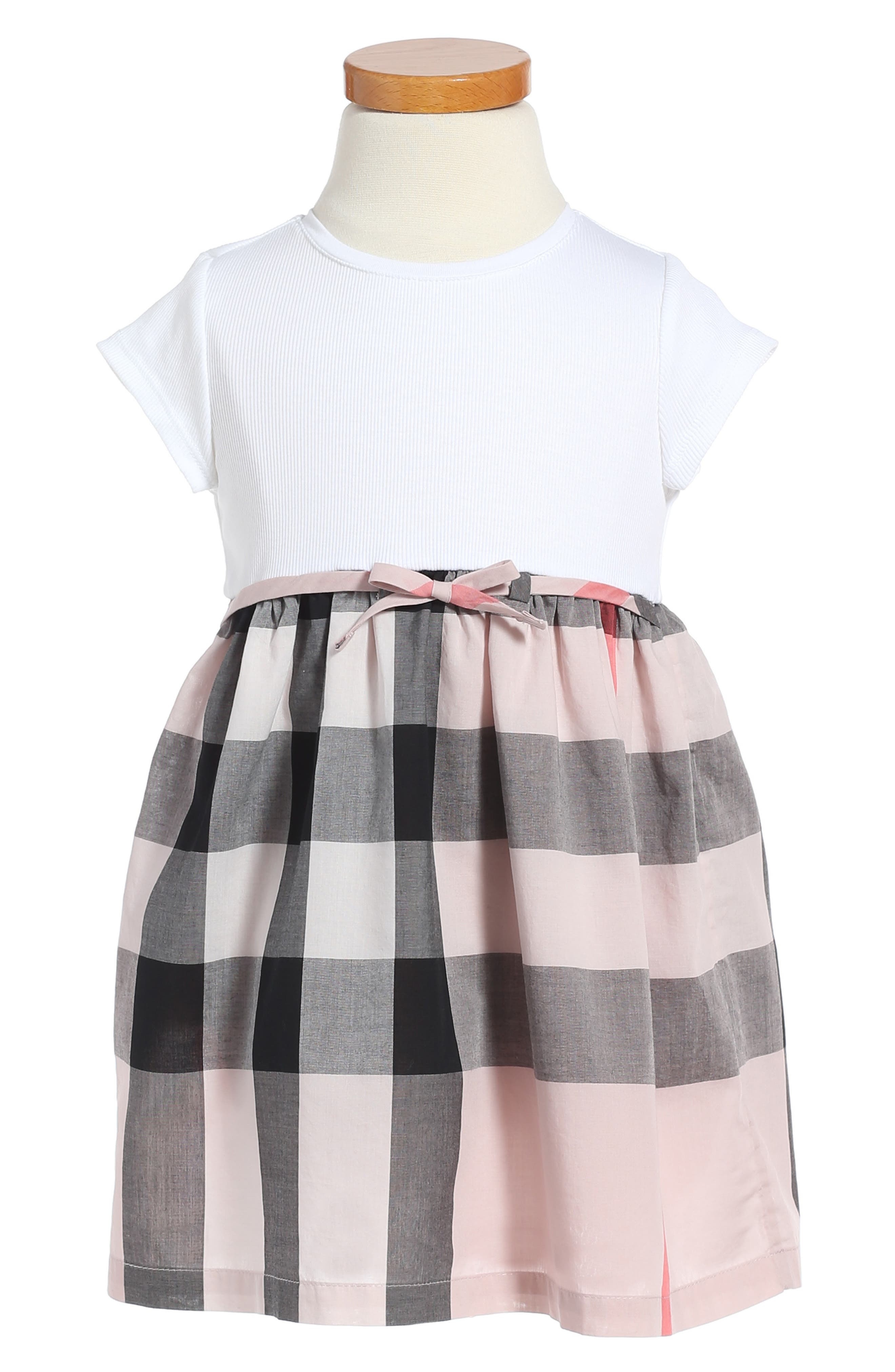Burberry Mini Rosey Check Cotton Dress (Toddler Girls)
